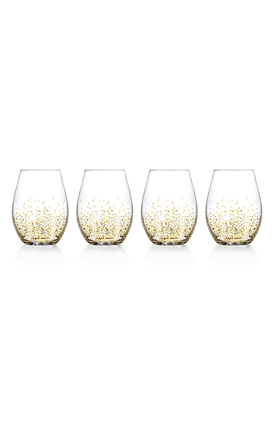 Alternate Image 1 Selected - American Atelier Daphne Set of 4 Stemless Wine Glasses