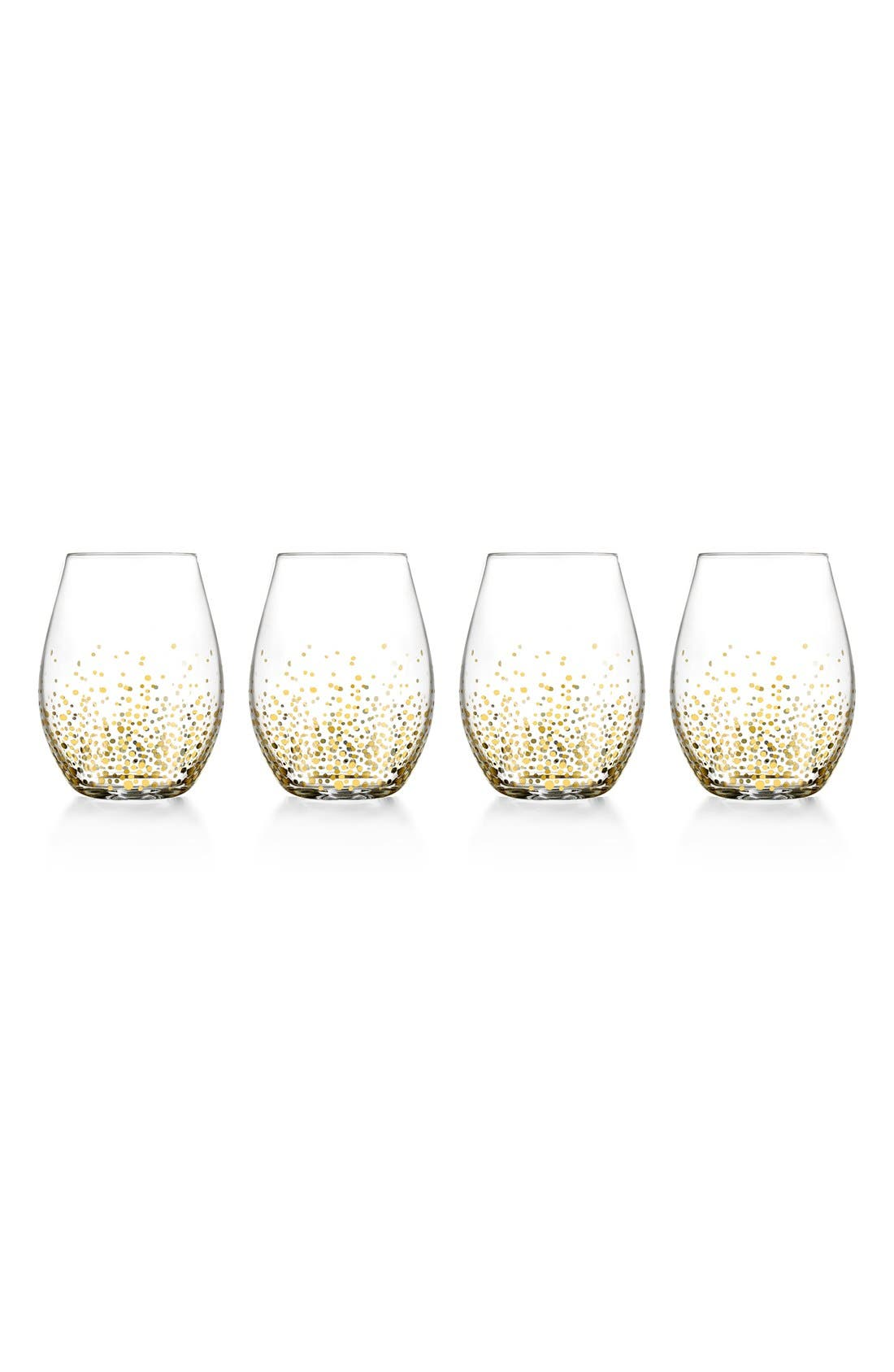 Main Image - American Atelier Daphne Set of 4 Stemless Wine Glasses