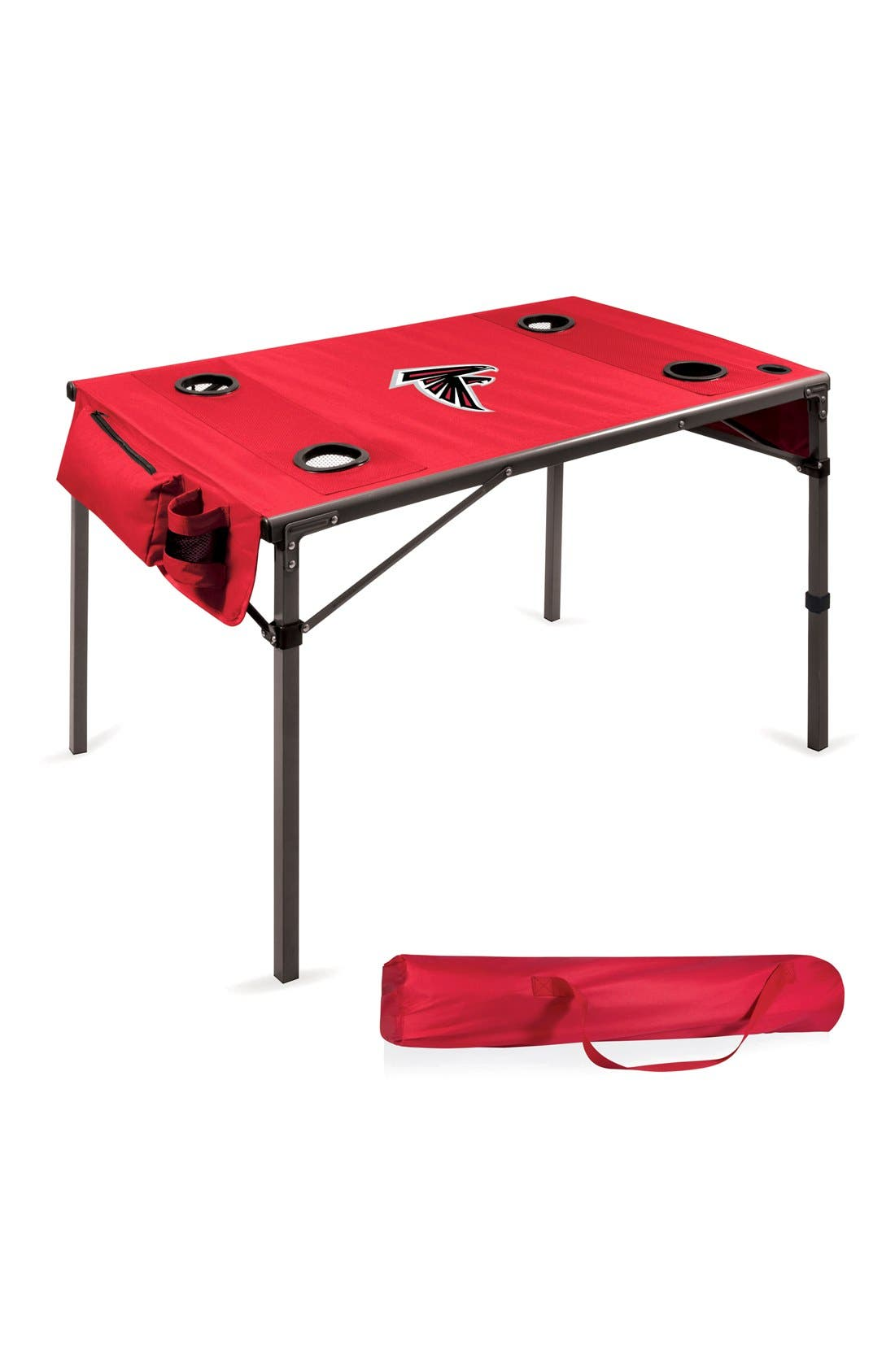 Soft Top Travel Table,                         Main,                         color, Red - Atlanta Falcons