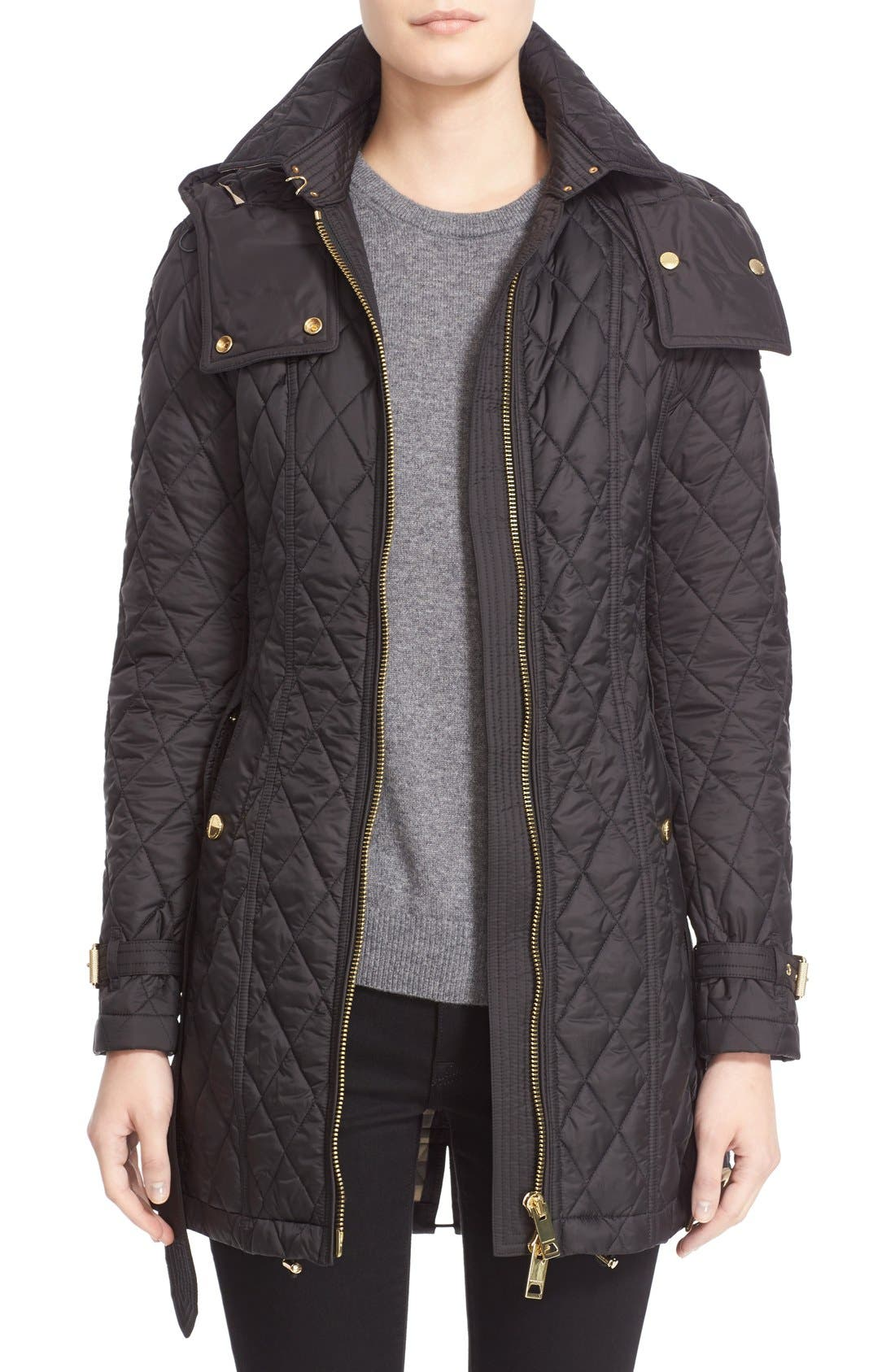 Alternate Image 1  - Burberry Bellbridge Technical Quilted Parka