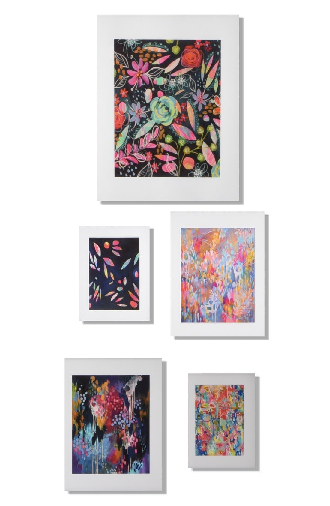 Main Image - Deny Designs 'Twilight' Wall Art Gallery (Set of 5)
