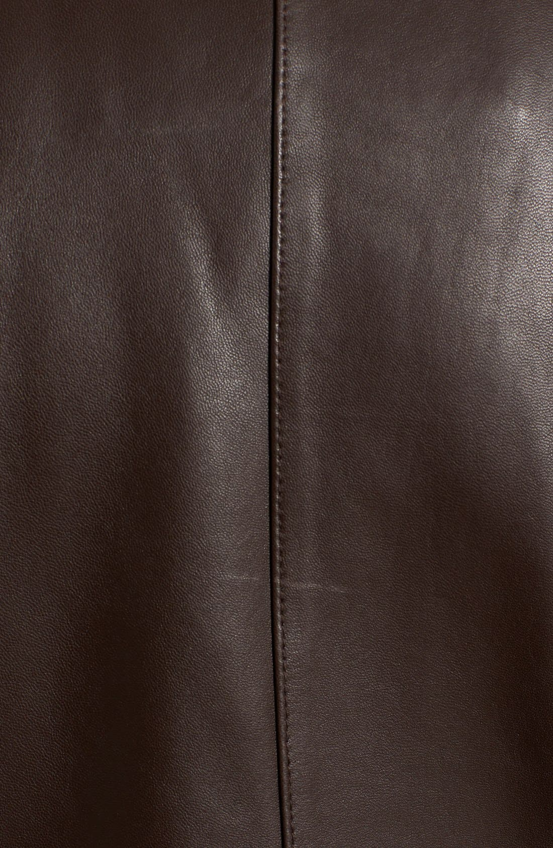 Alternate Image 5  - Cole Haan Leather Moto Jacket (Regular & Petite)