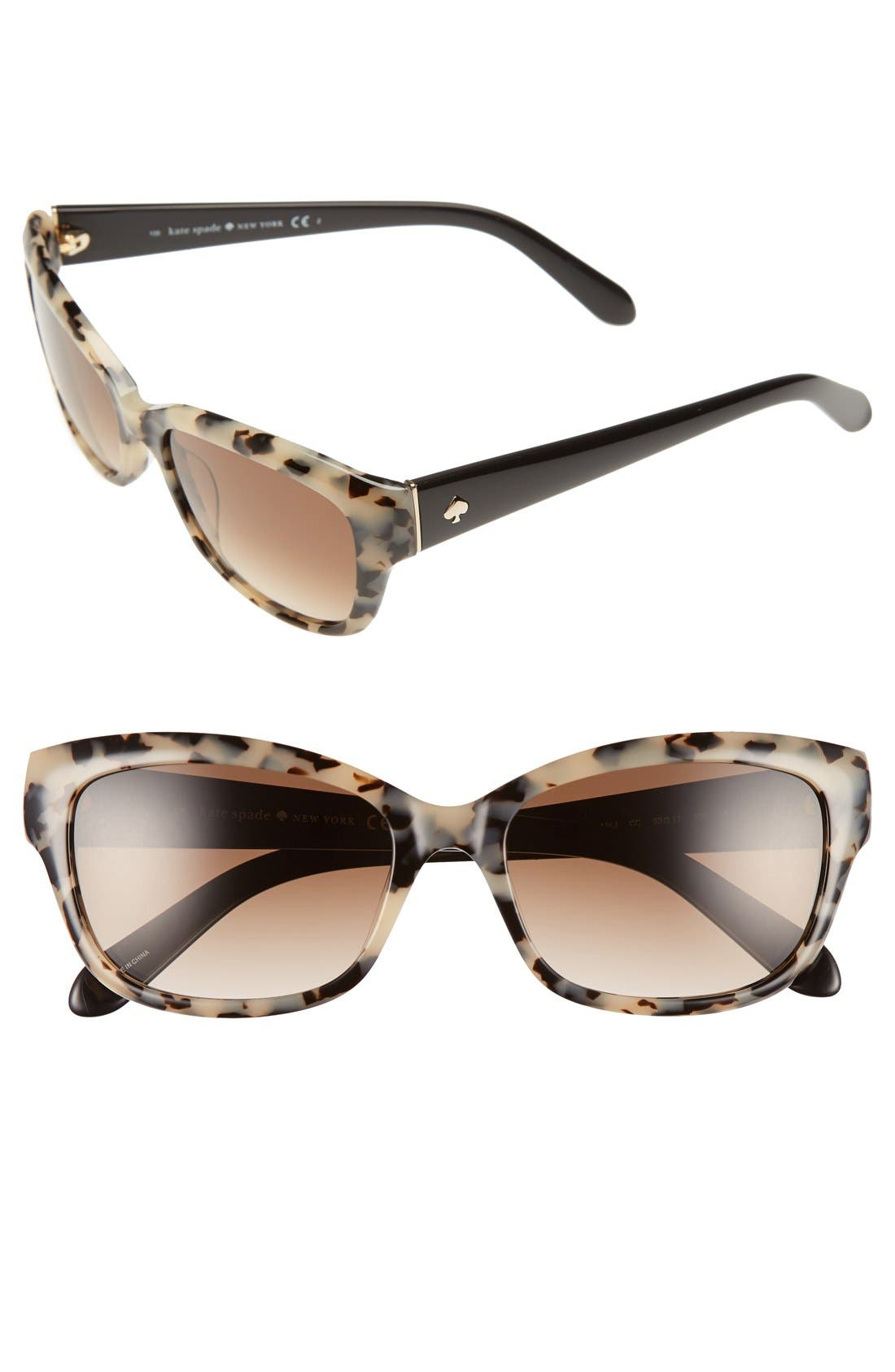 Main Image - kate spade 'johanna' 53mm retro sunglasses