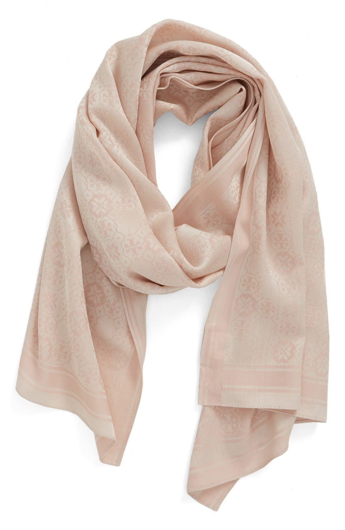 Tory Burch 'The Traveler' Wool & Silk Scarf