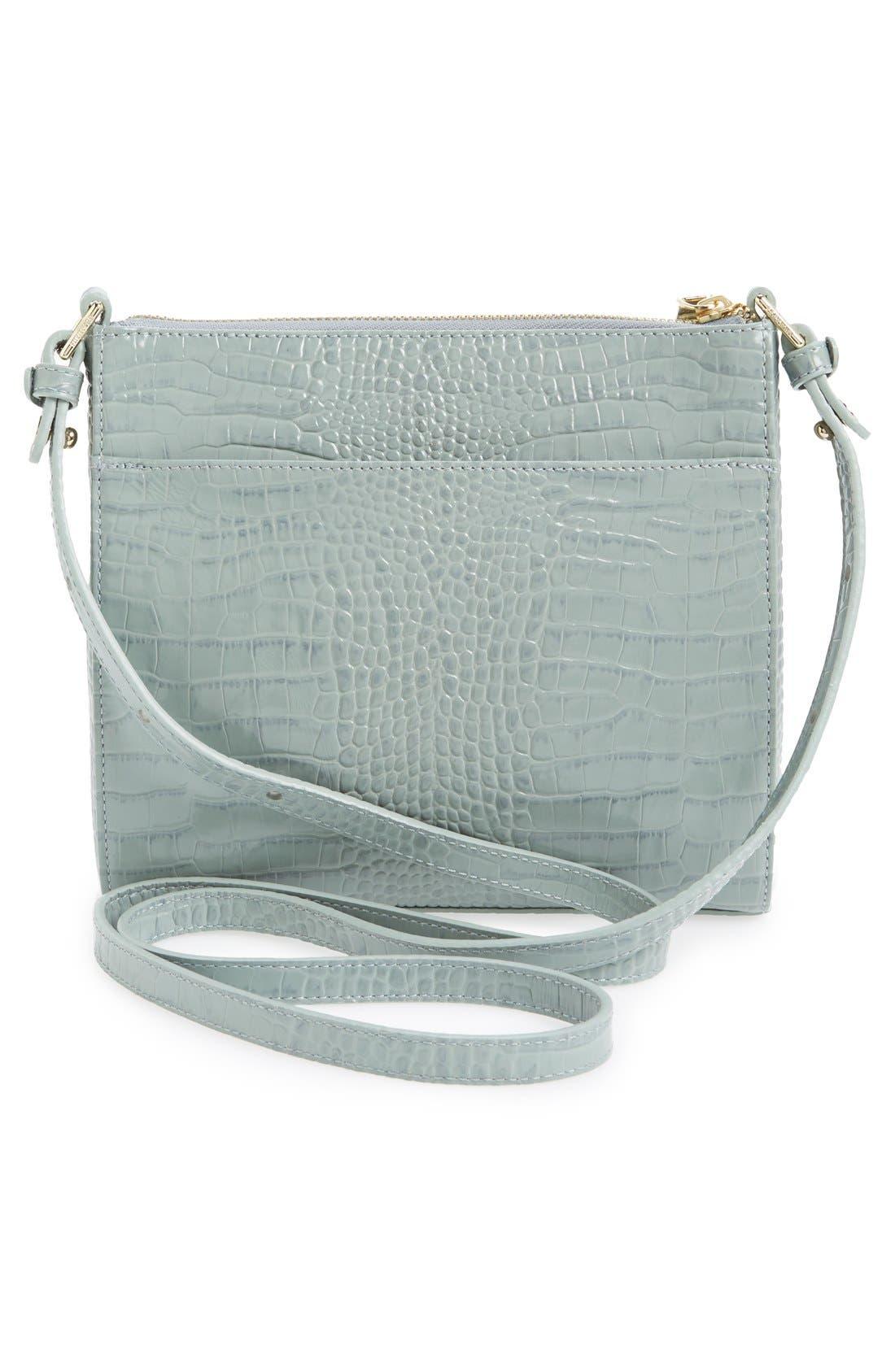 Alternate Image 3  - Brahmin 'Mimosa' Croc Embossed Leather Crossbody Bag