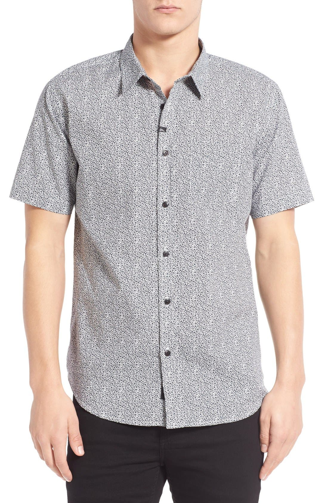 IMPERIAL MOTION Micro Print Short Sleeve Woven Shirt