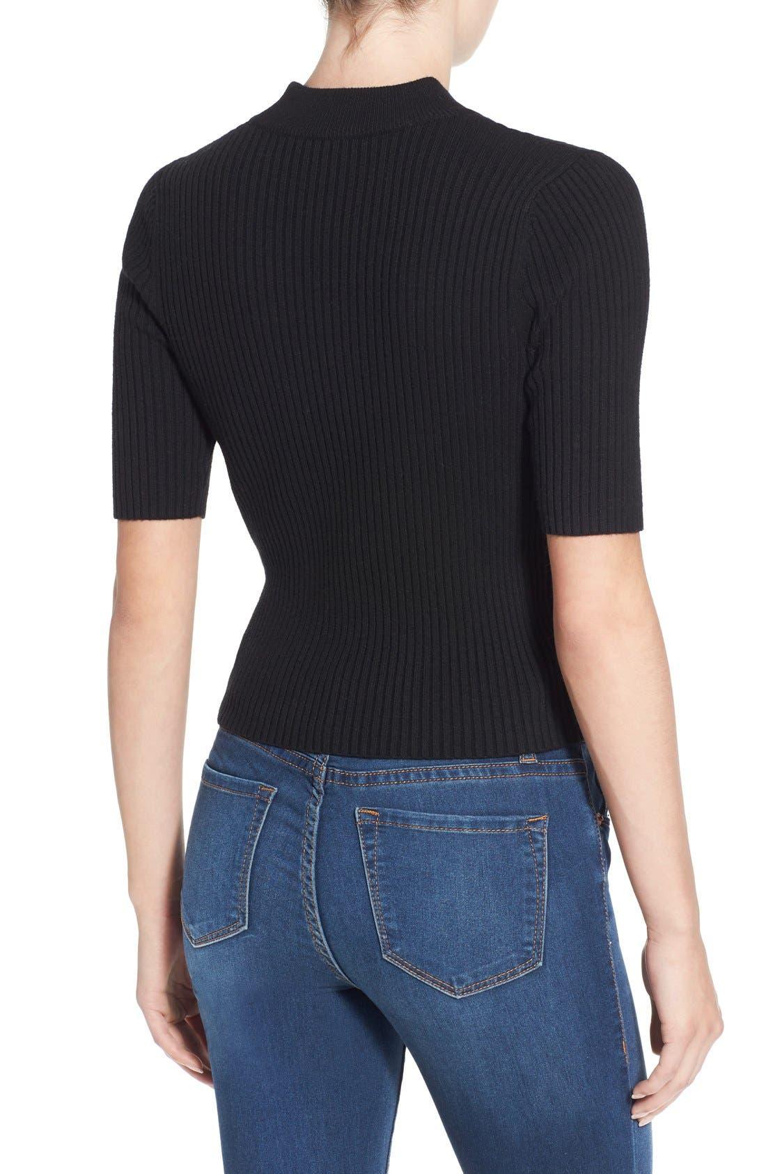 Alternate Image 2  - BP. Short Sleeve Rib Knit Pullover