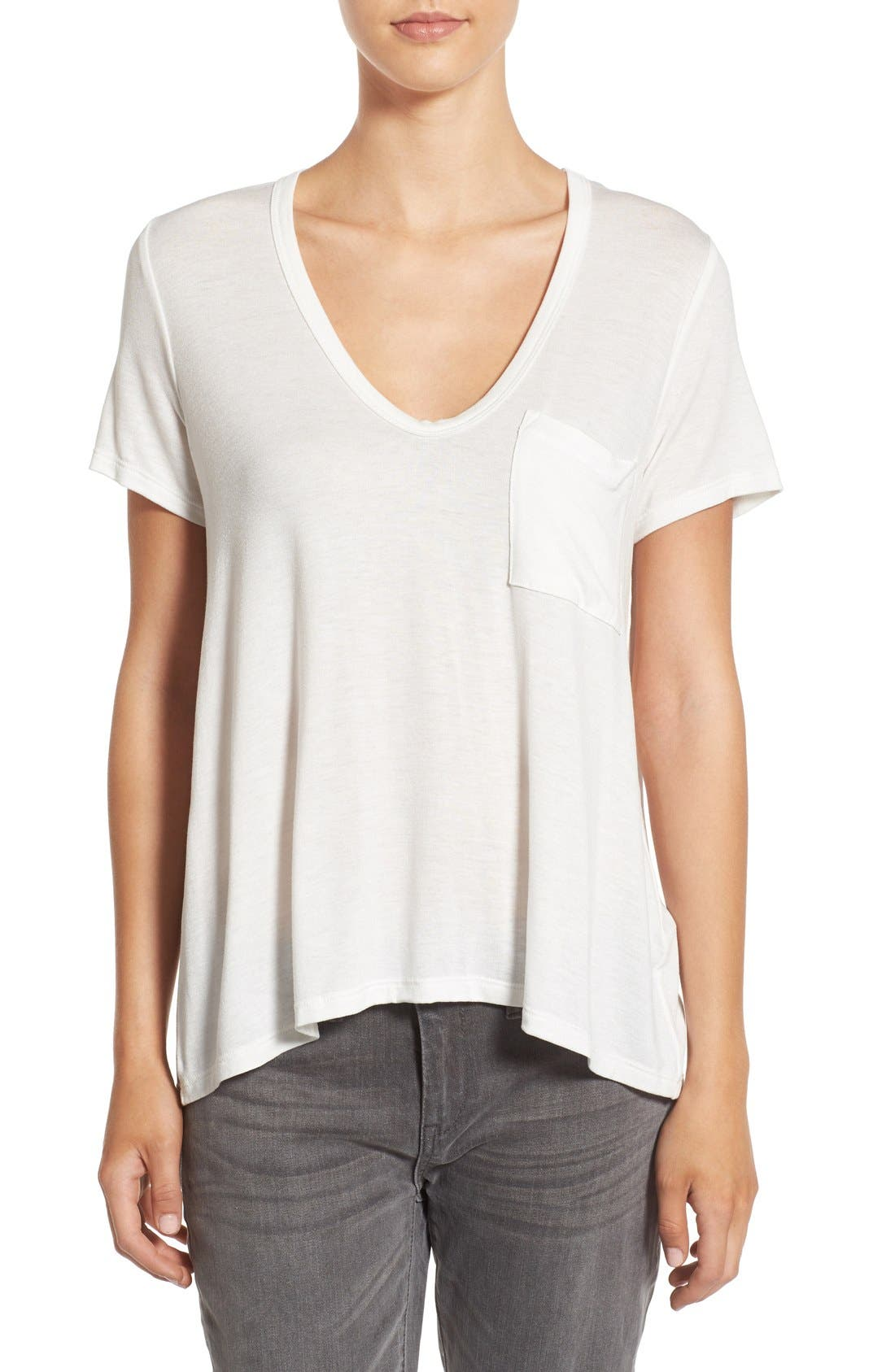 Main Image - Lush Deep-V Neck Tee