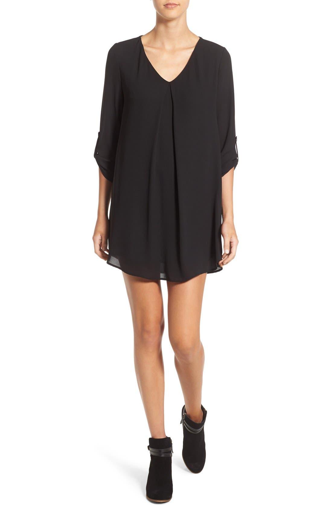 Karly Shift Dress,                         Main,                         color, Black