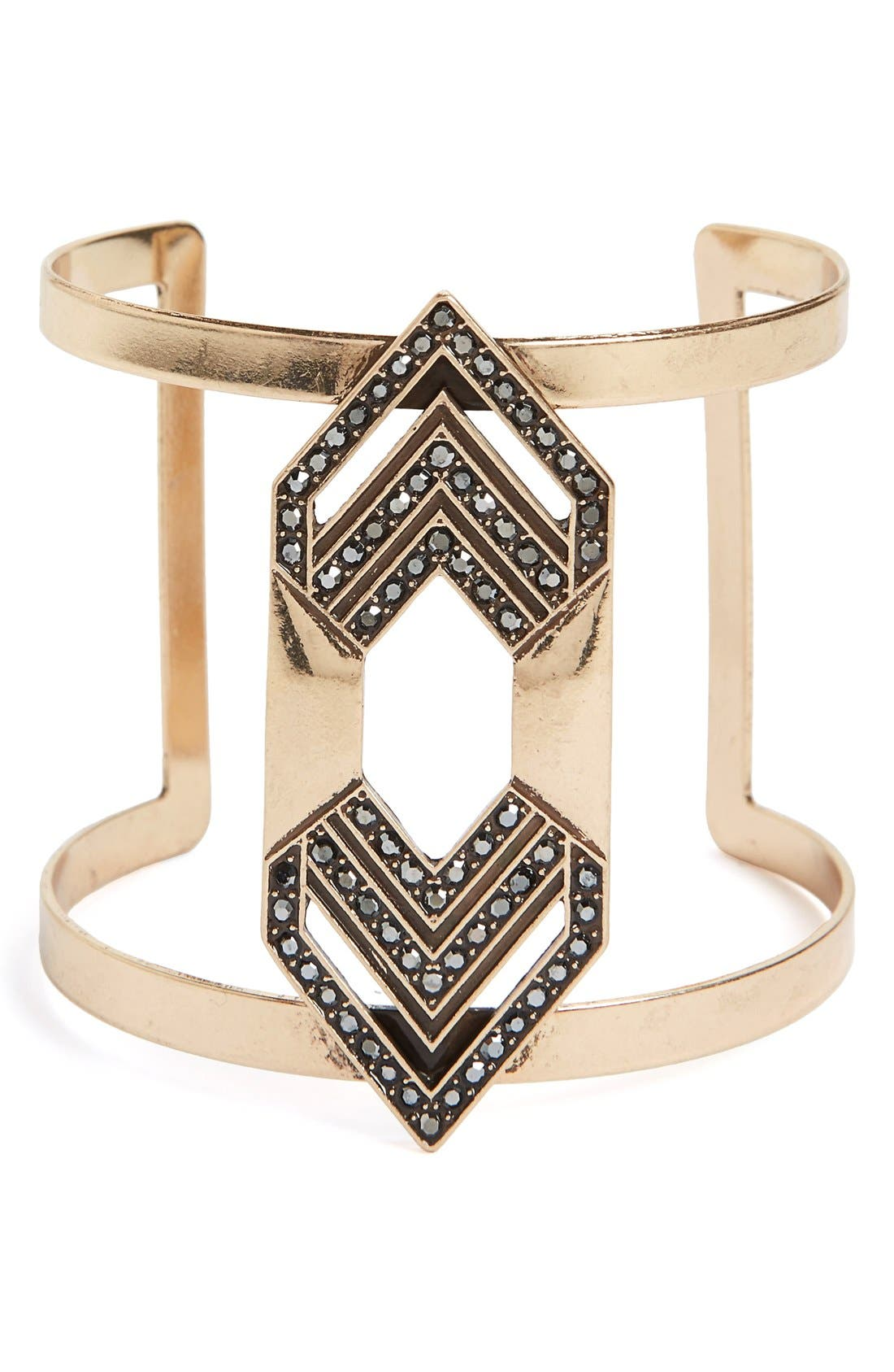 Alternate Image 1 Selected - Sole Society Deco Statement Cuff