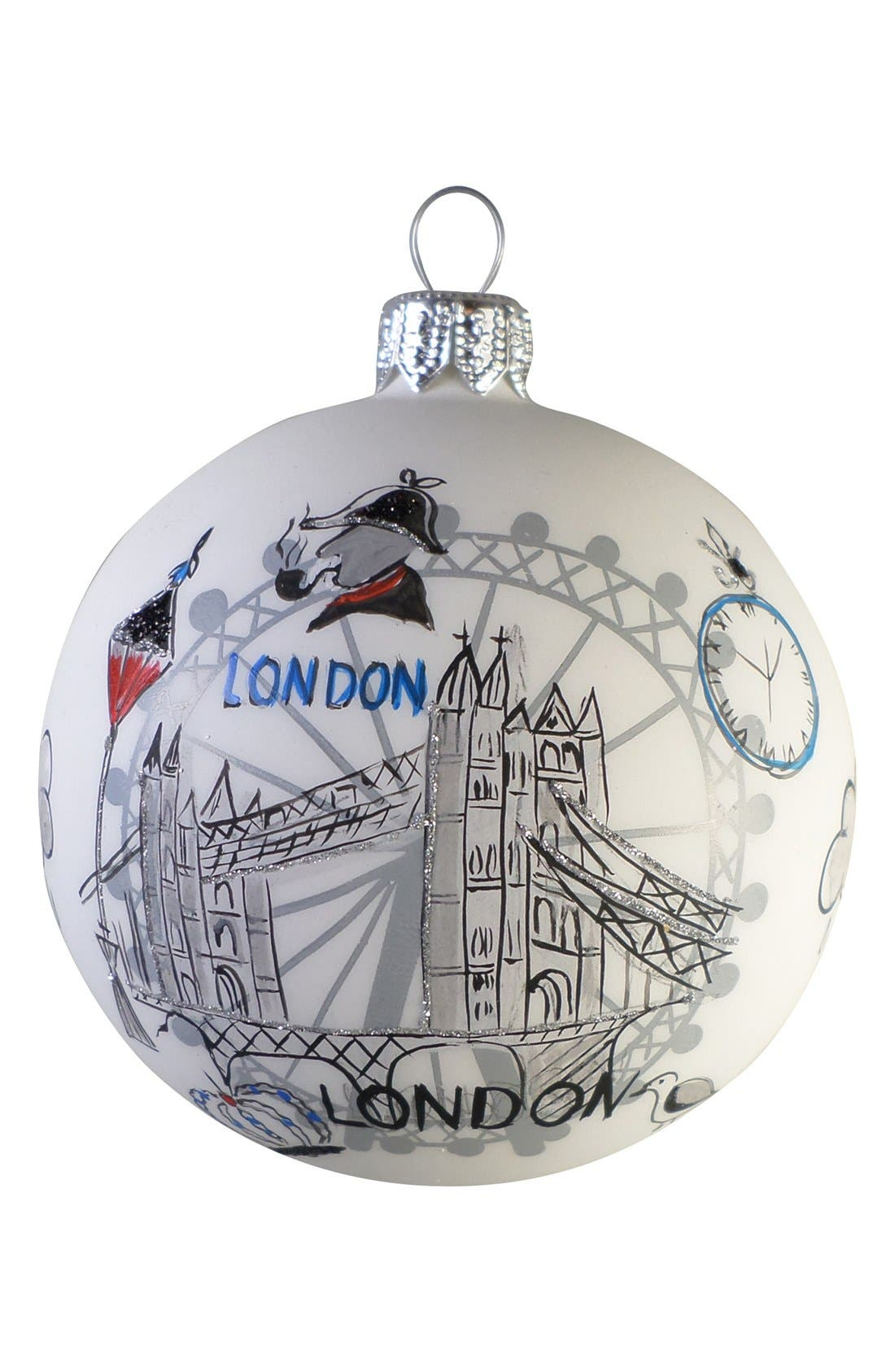 Alternate Image 1 Selected - Nordstrom at Home 'Travel' Handblown Glass Ball Ornament