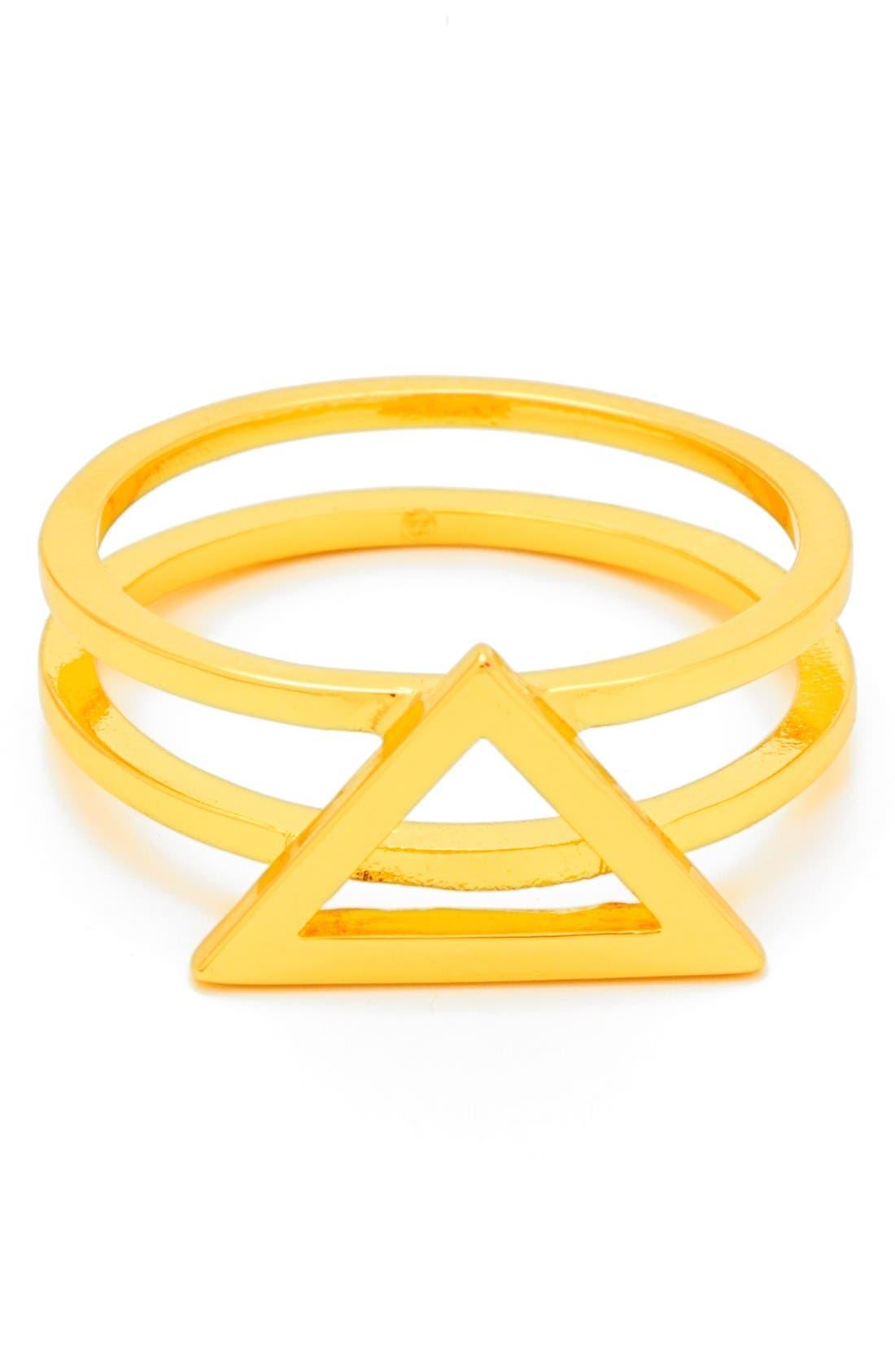 Alternate Image 1 Selected - gorjana 'Anya' Openwork Triangle Ring