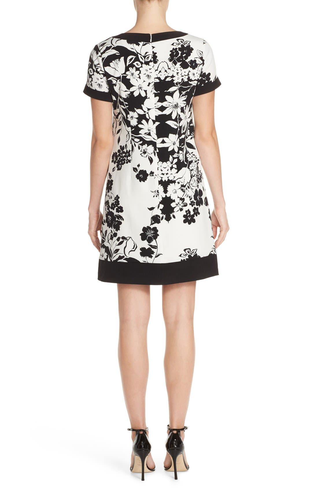 Alternate Image 2  - Adrianna Papell Floral Print Shift Dress