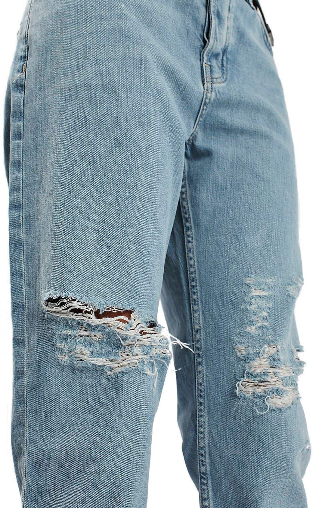 Alternate Image 5  - Topshop 'Hayden' Bleach Ripped Boyfriend Jeans