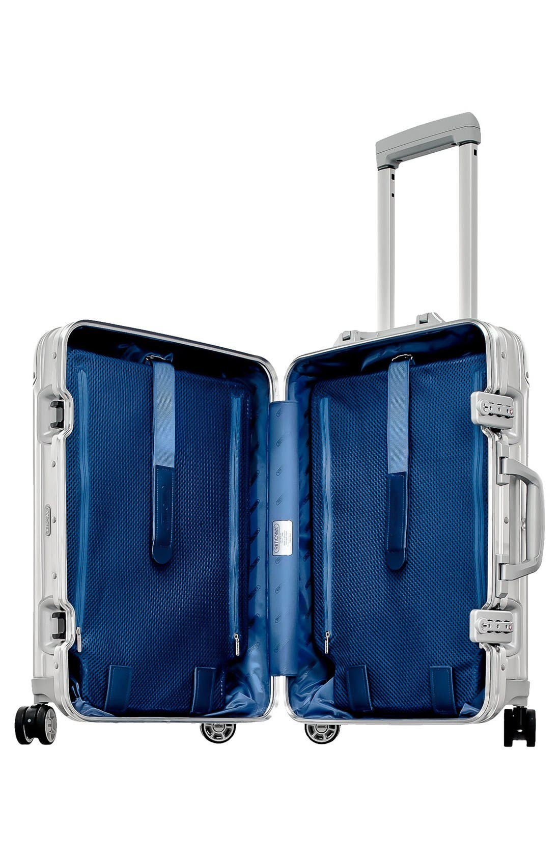 Topas 22-Inch Cabin Multiwheel<sup>®</sup> Aluminum Carry-On,                             Alternate thumbnail 2, color,                             Silver
