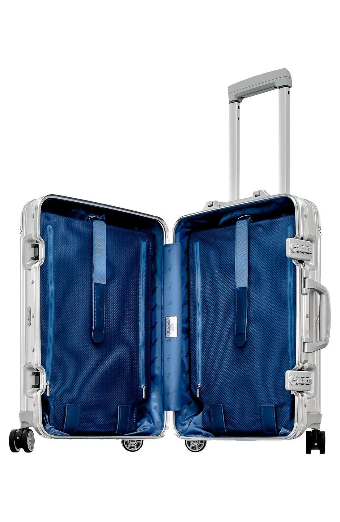 Alternate Image 2  - RIMOWA Topas 22 Inch Cabin Multiwheel® Aluminum Carry-On