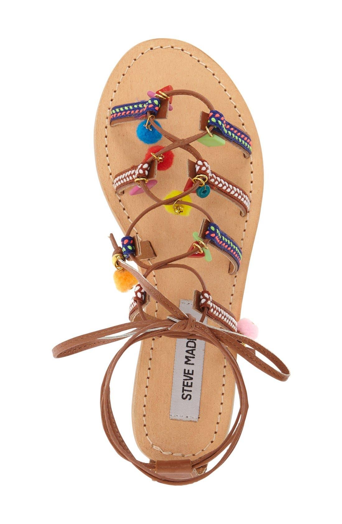 Alternate Image 3  - Steve Madden 'Ommaha' Embellished Lace-up Sandal (Women)