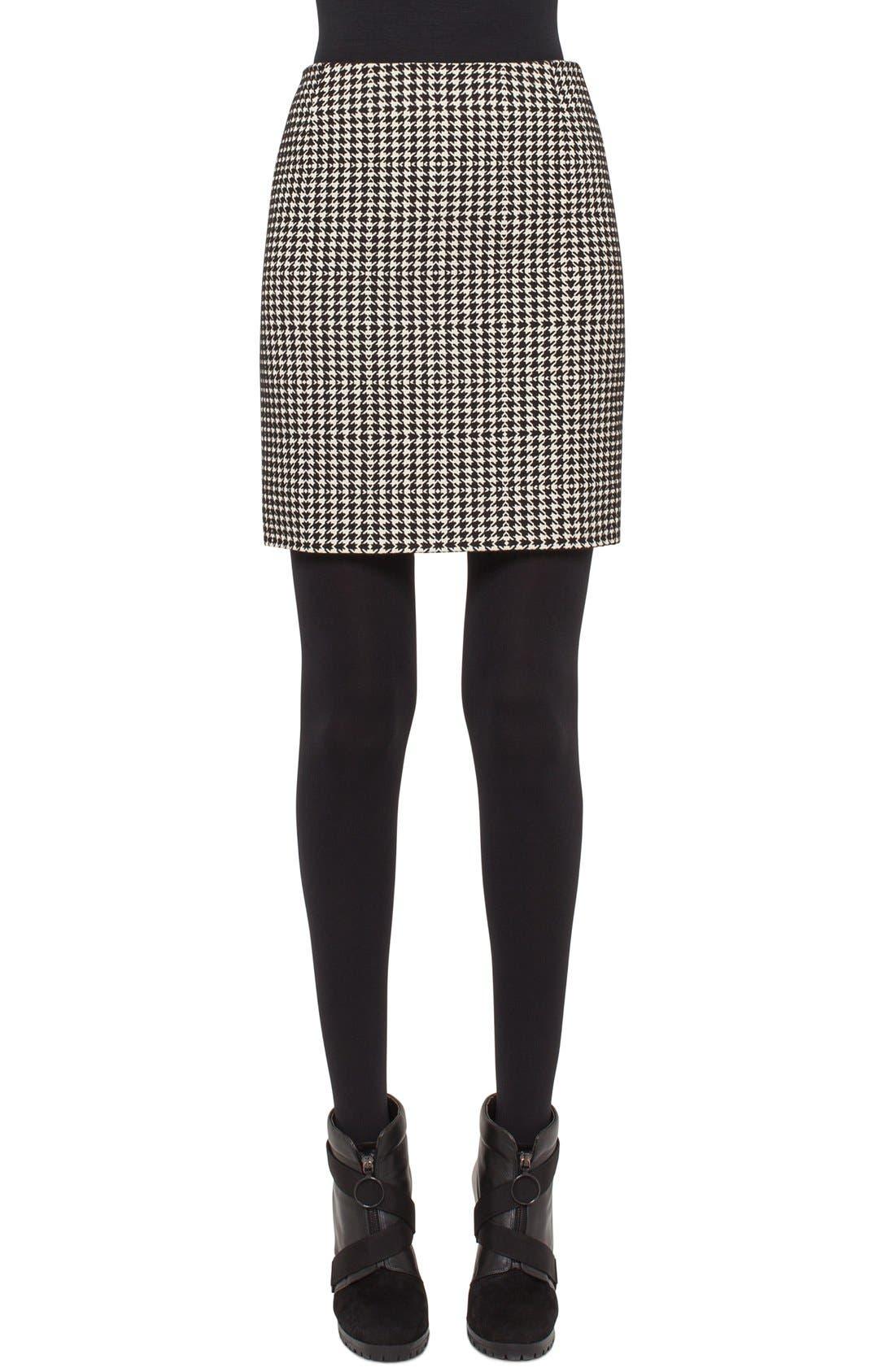 Main Image - Akris punto Houndstooth Miniskirt