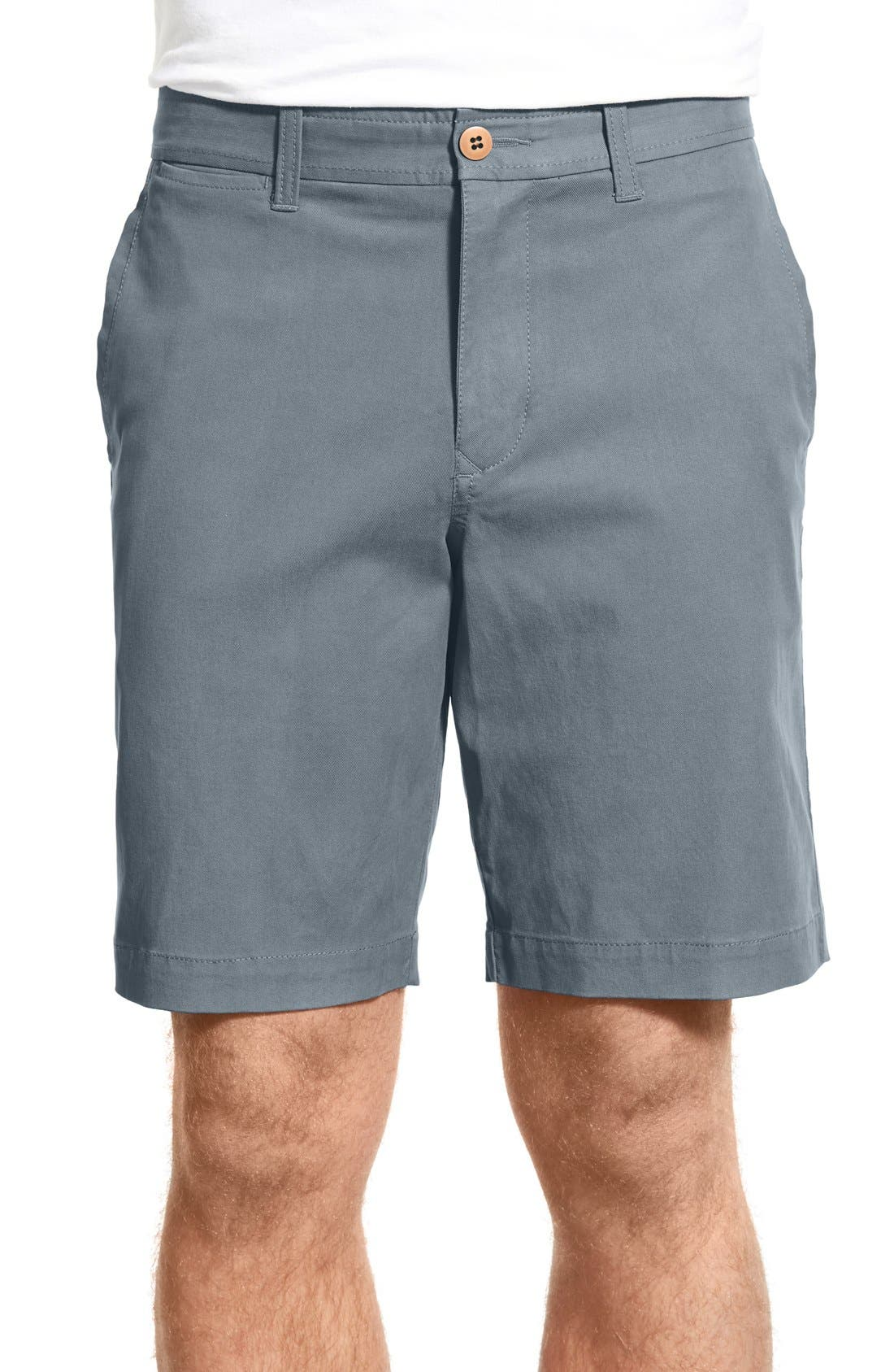 'Offshore' Stretch Twill Shorts,                         Main,                         color, Maritime