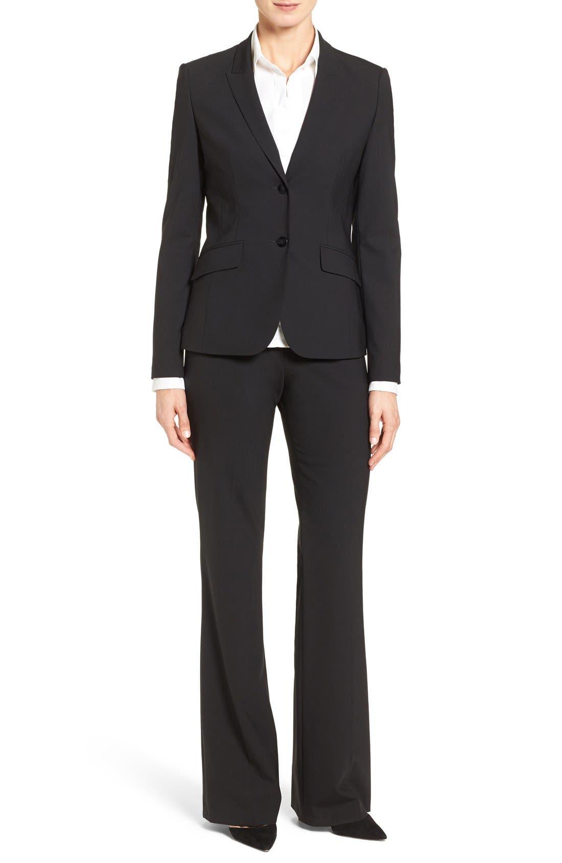 BOSS Suit Jacket, Bootcut Trousers & Shirt