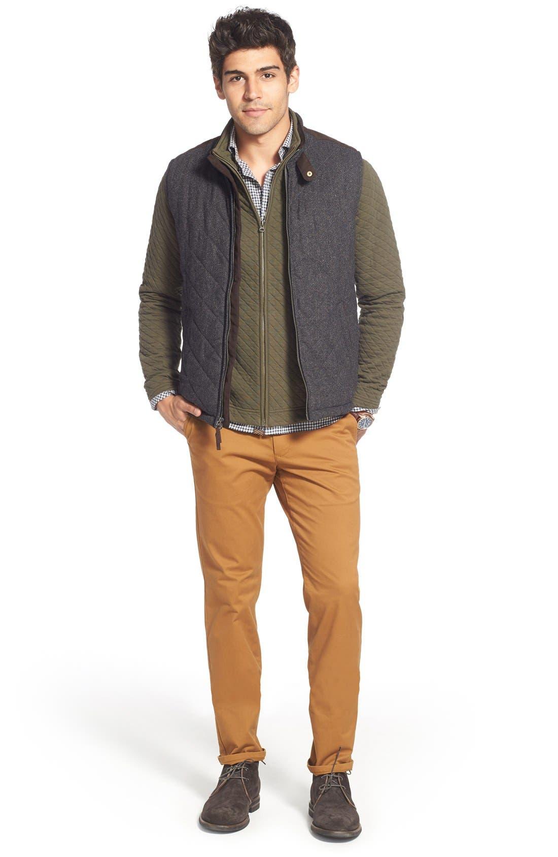 Alternate Image 6  - John W. Nordstrom Regular Fit Quilted Tweed Vest