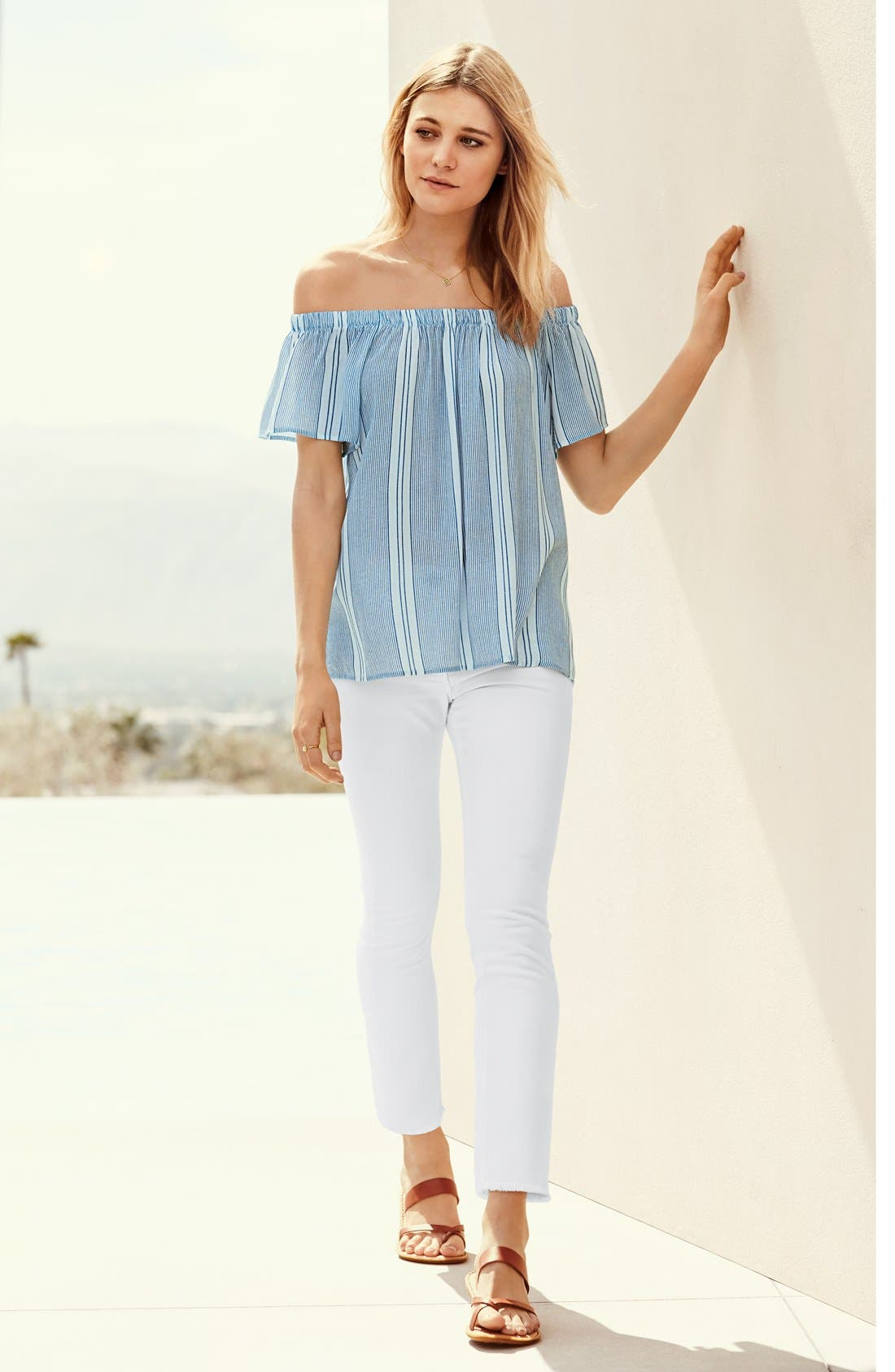Alternate Image 6  - Bobeau Off the Shoulder Top
