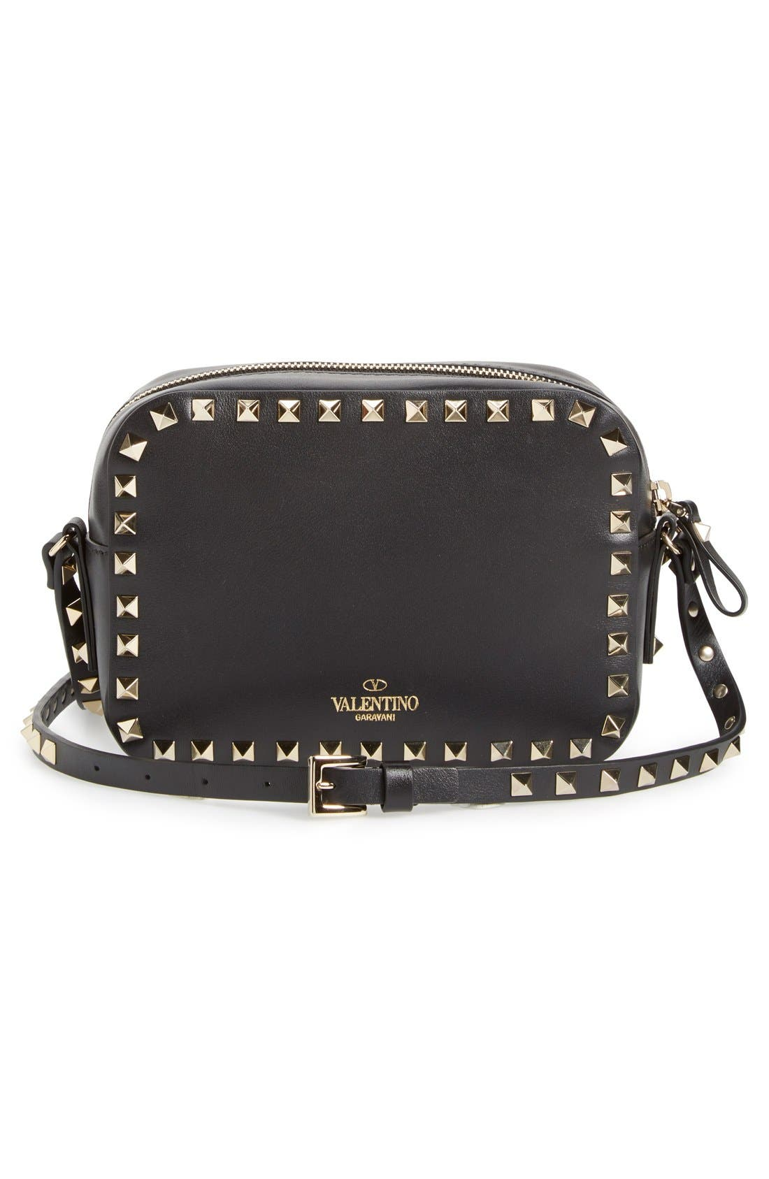 Alternate Image 3  - VALENTINO GARAVANI 'Rockstud' Calfskin Leather Camera Crossbody Bag