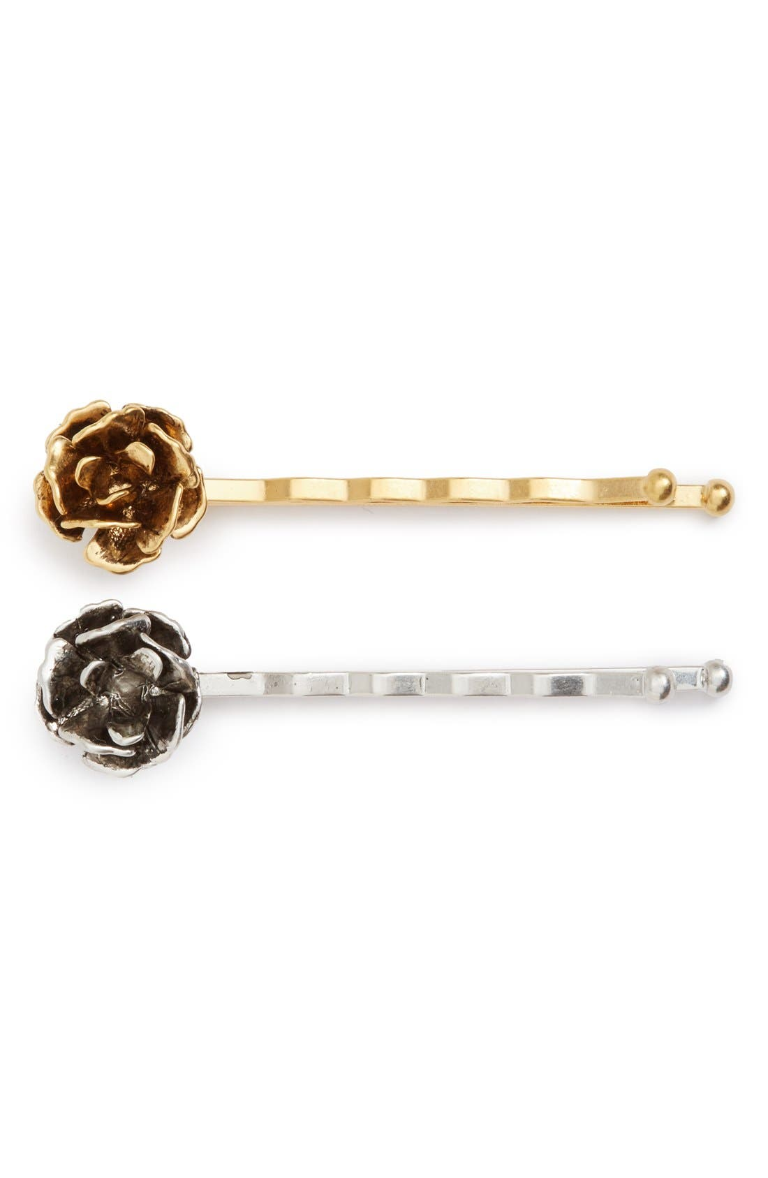 Main Image - MARC JACOBS 'Flower' Bobby Pins (Set of 2)