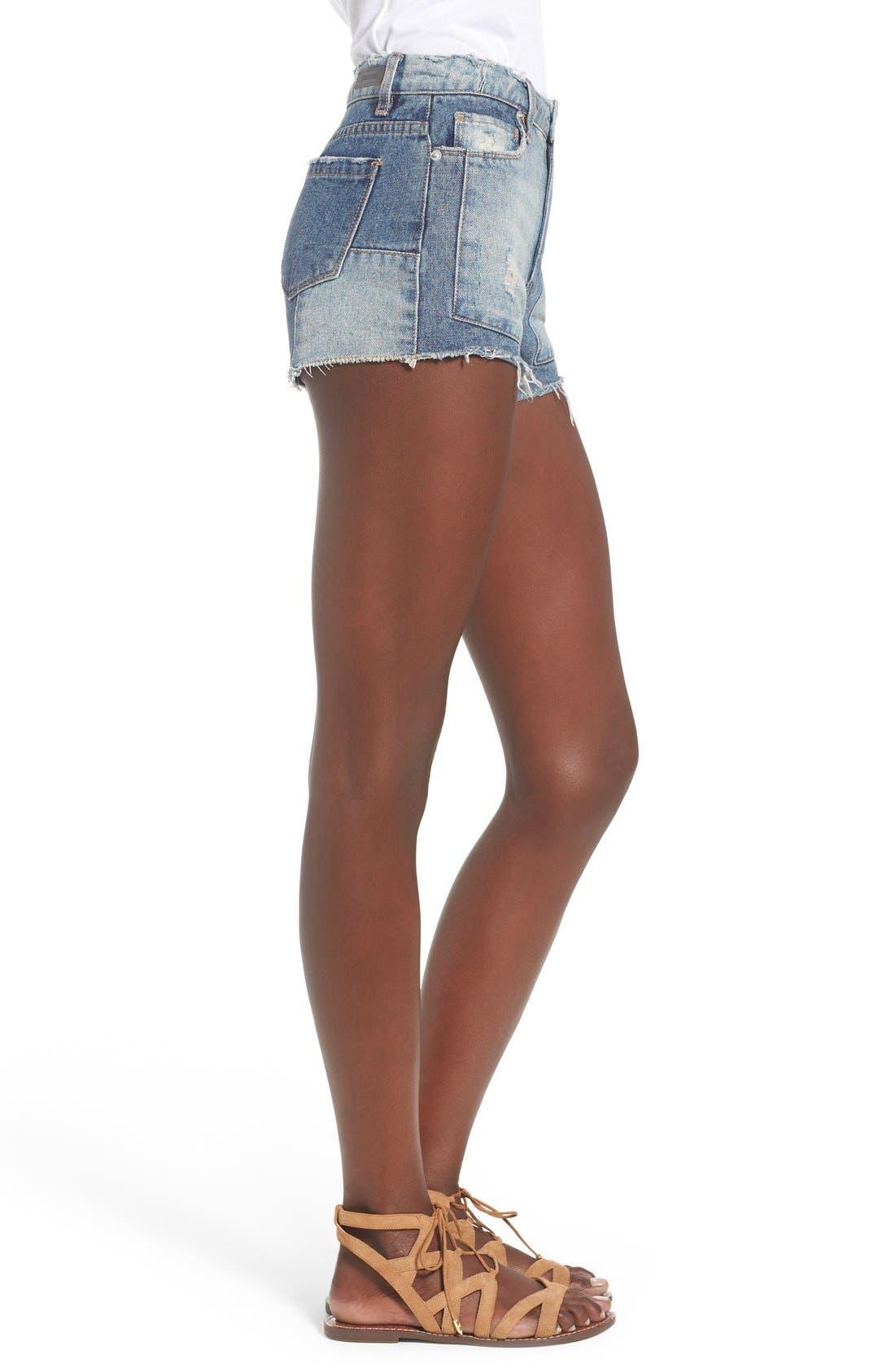Alternate Image 3  - BLANKNYC Distressed Cutoff Denim Shorts (Rough Patch)