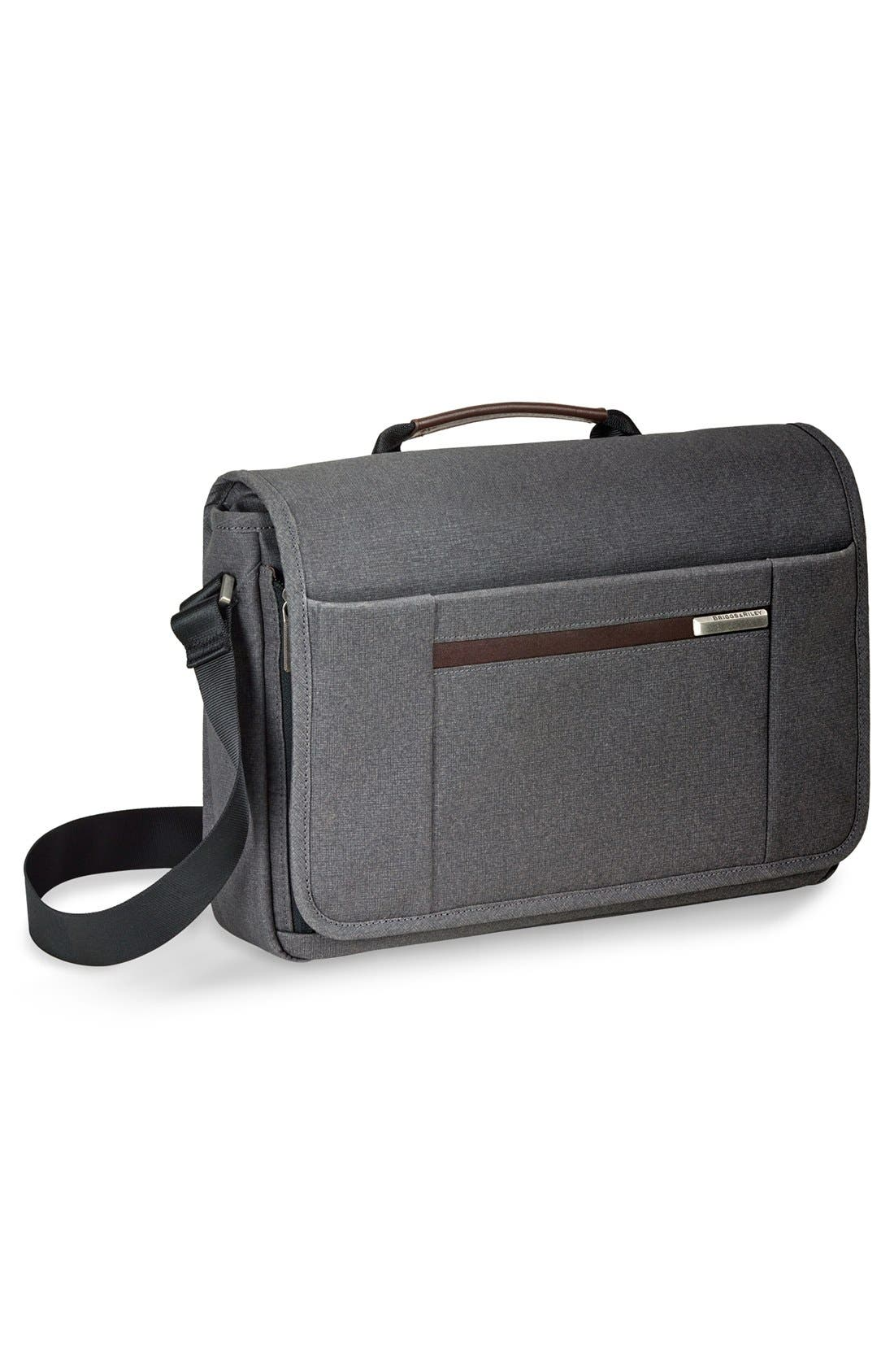 'Kinzie Street - Micro' Messenger Bag,                             Alternate thumbnail 3, color,                             Grey
