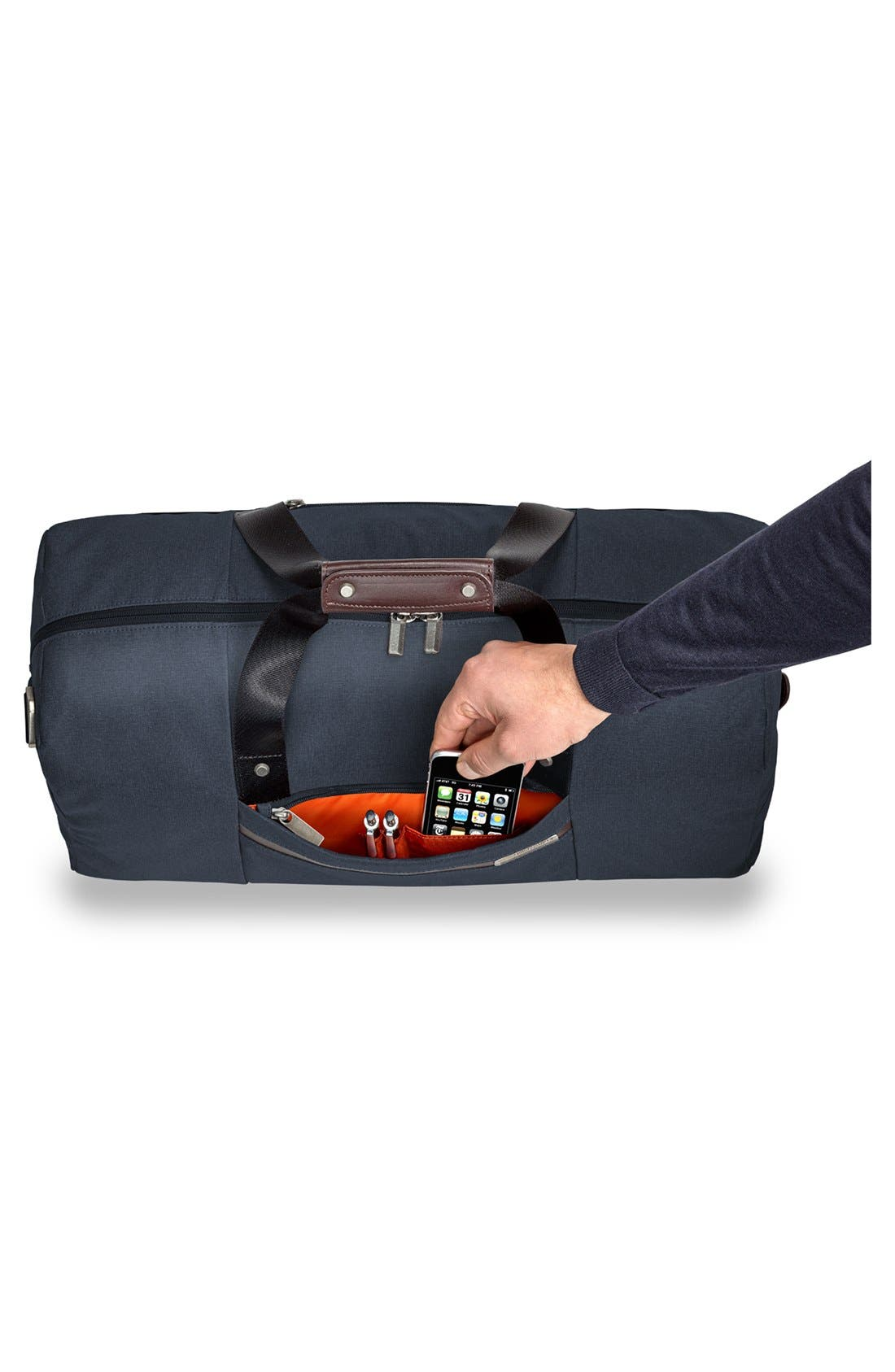 Kinzie Street - Simple Duffel Bag,                             Alternate thumbnail 5, color,                             Navy Blue