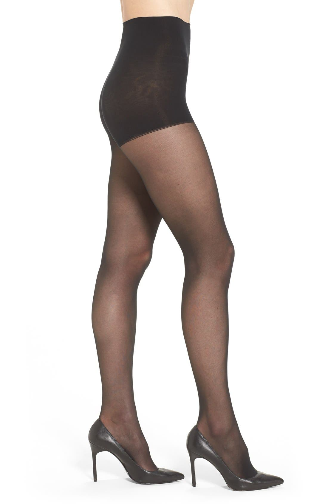 Alternate Image 1 Selected - DKNY Light Opaque Control Top Tights (2 for $25)