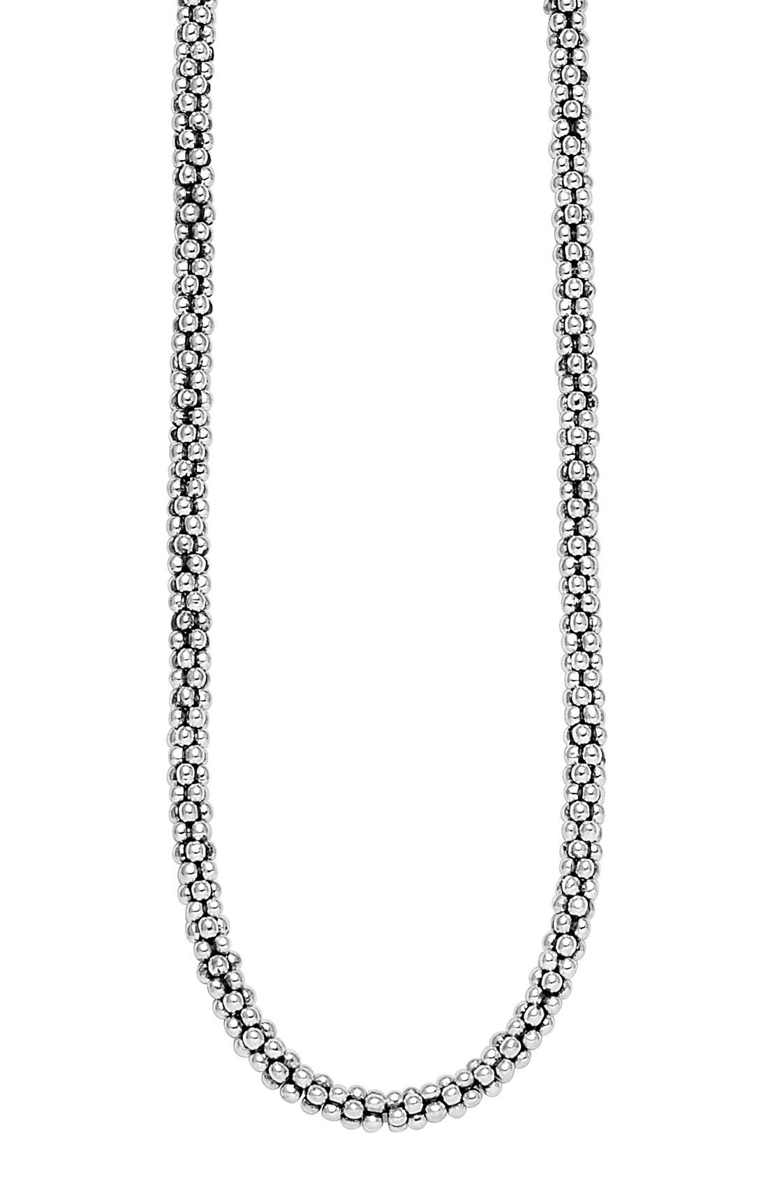 Alternate Image 4  - LAGOS Sterling Silver 4mm Caviar Chain Necklace