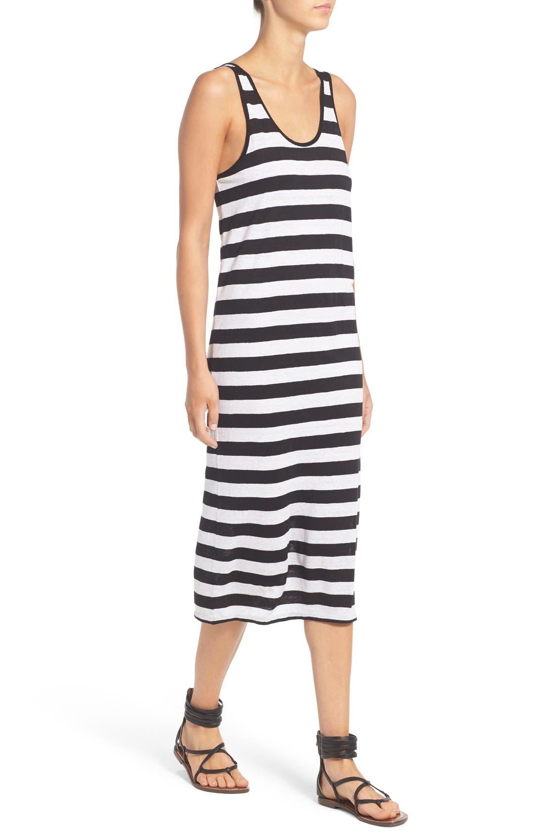 Alternate Image 4  - Joe's 'Weekend' Stripe Linen Midi Dress