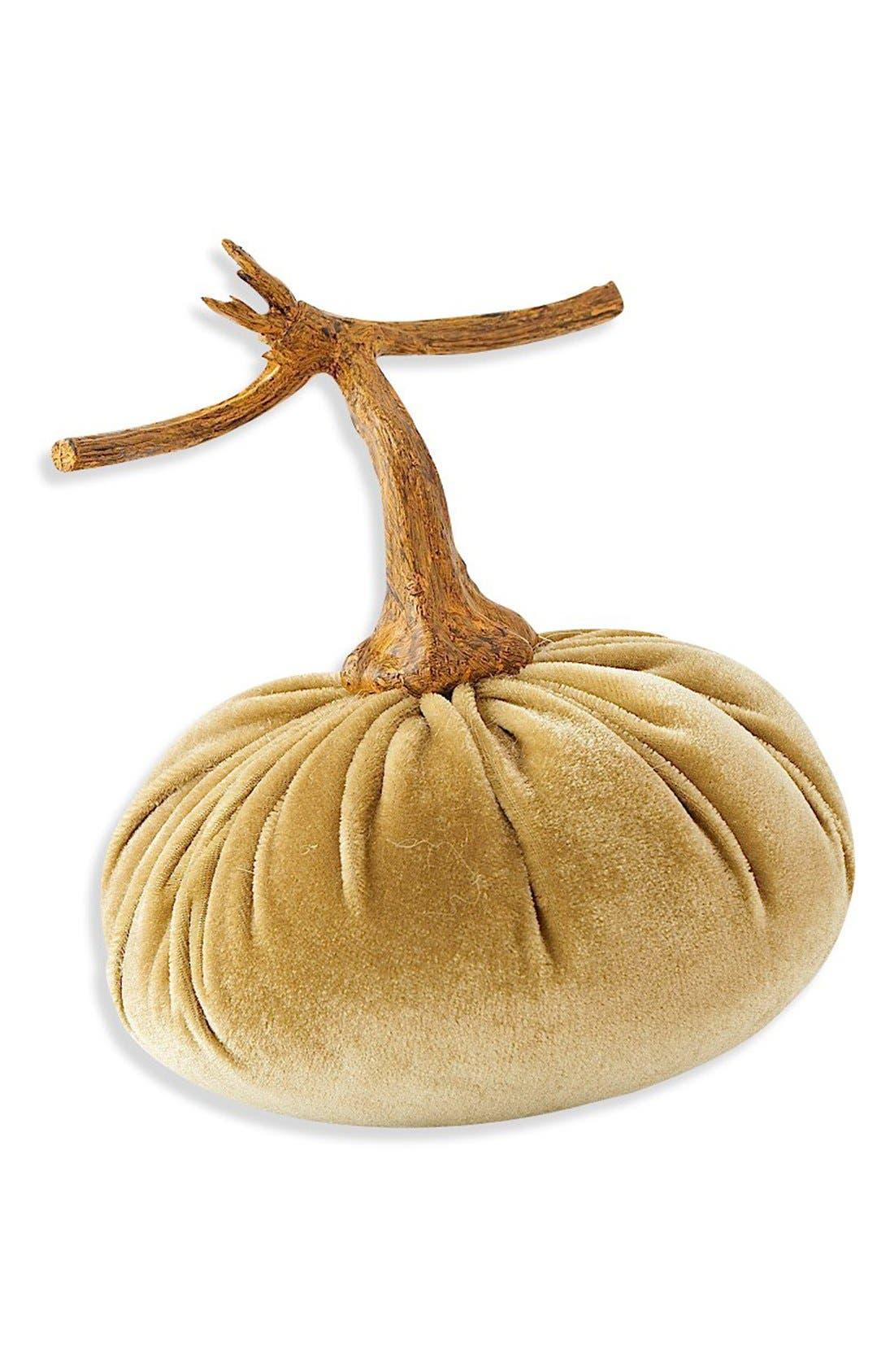 K & K Interiors Velvet Pumpkin