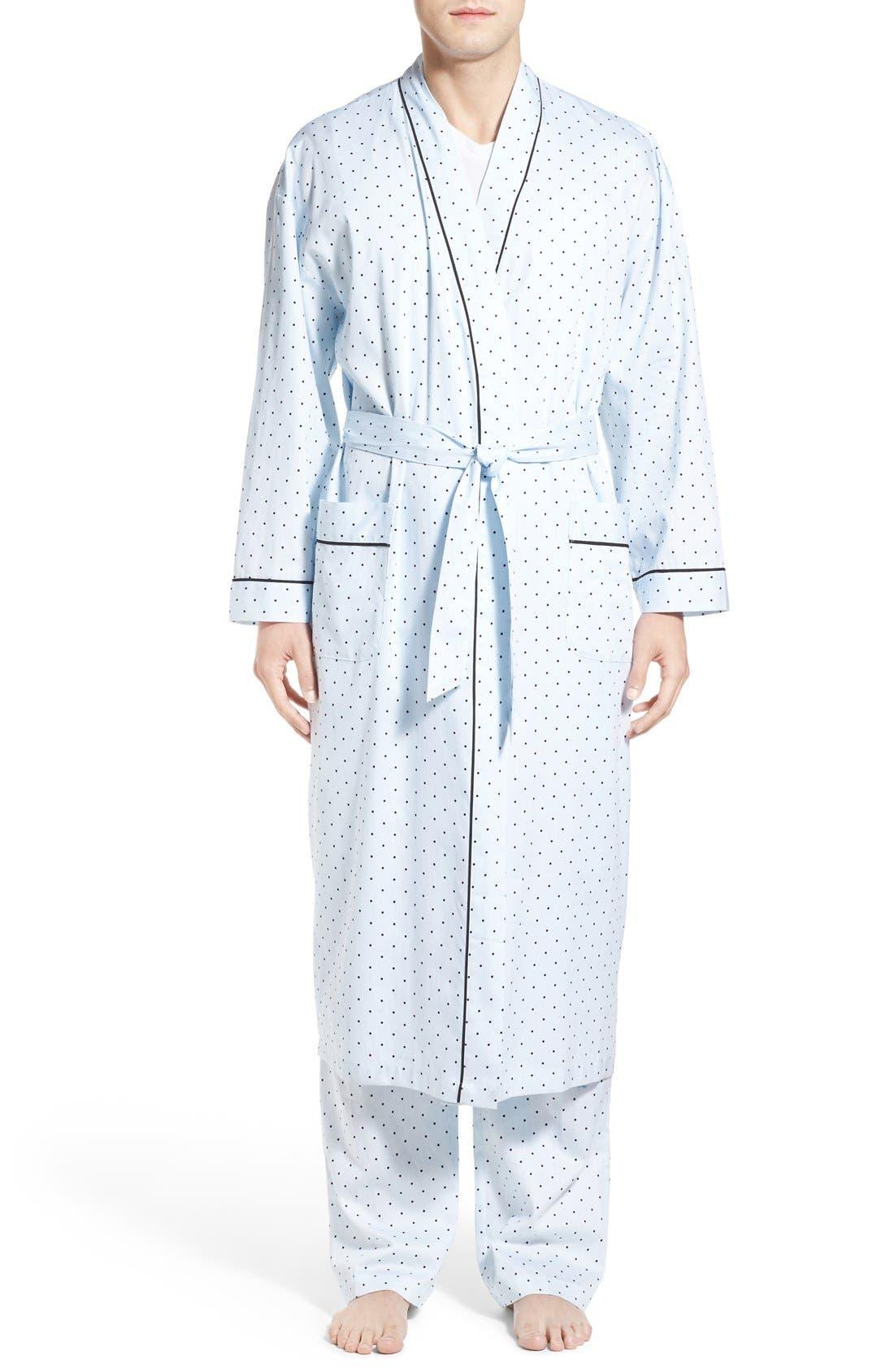 MAJESTIC INTERNATIONAL Twilight Blue Cotton Robe