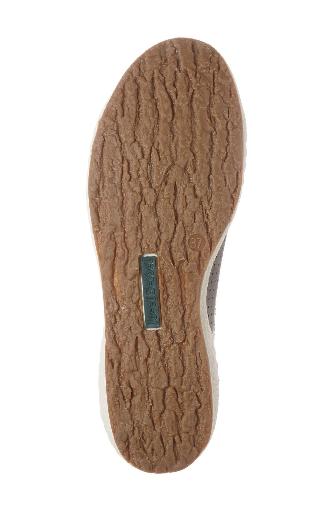 'Caspian' Sneaker,                             Alternate thumbnail 4, color,                             Grigio Leather
