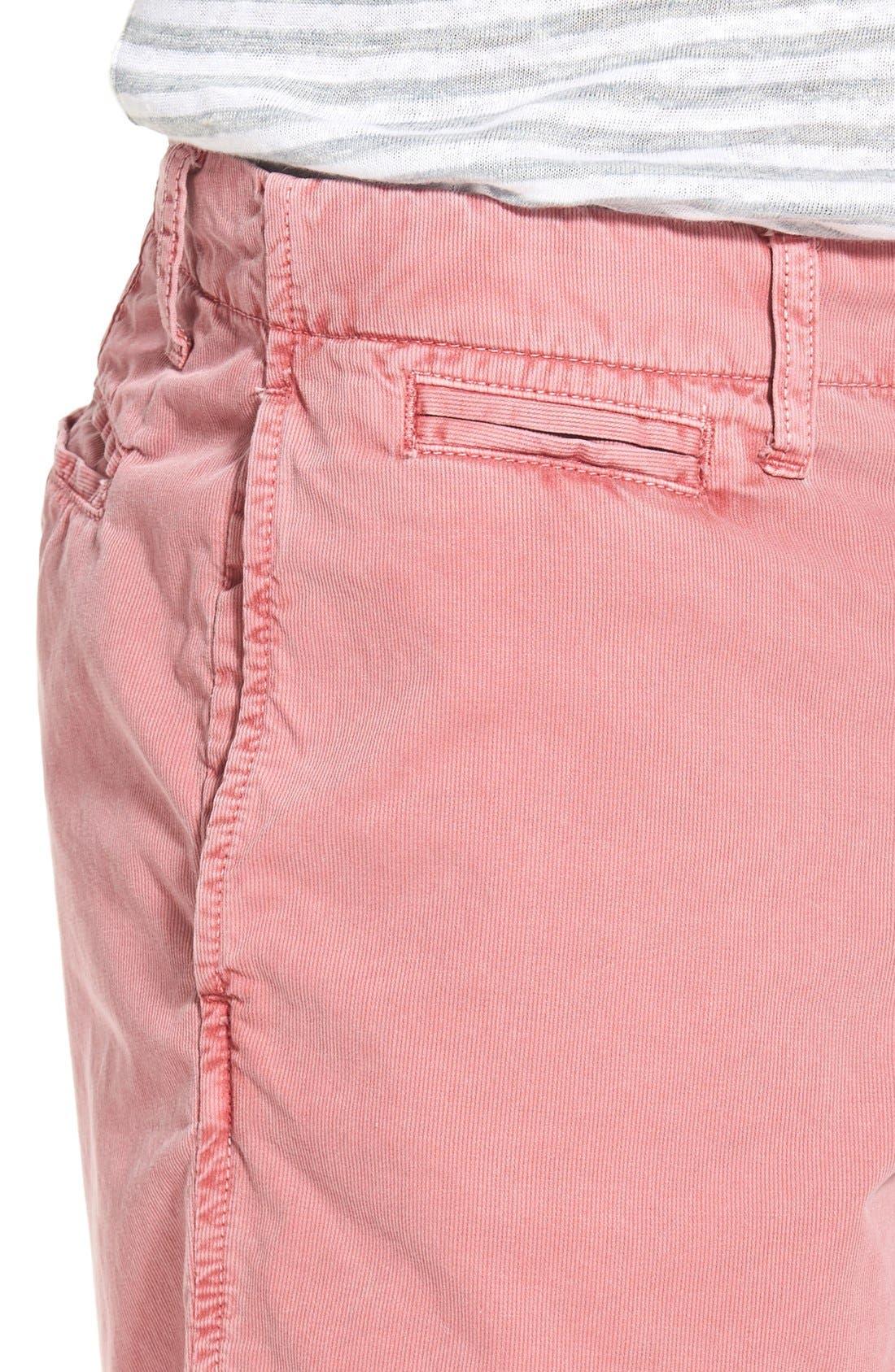 'St. Barts' Raw Edge Shorts,                             Alternate thumbnail 4, color,                             Cranberry