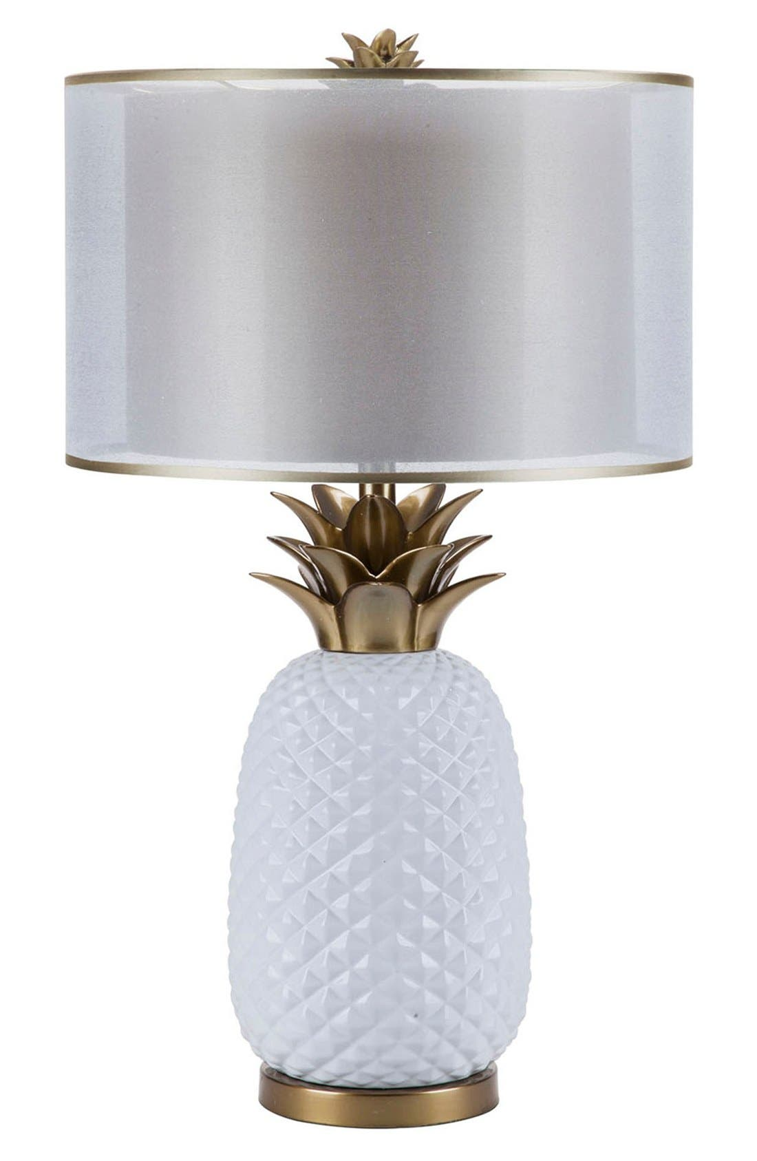 JAlexander Pineapple Lamp,                             Main thumbnail 1, color,                             White