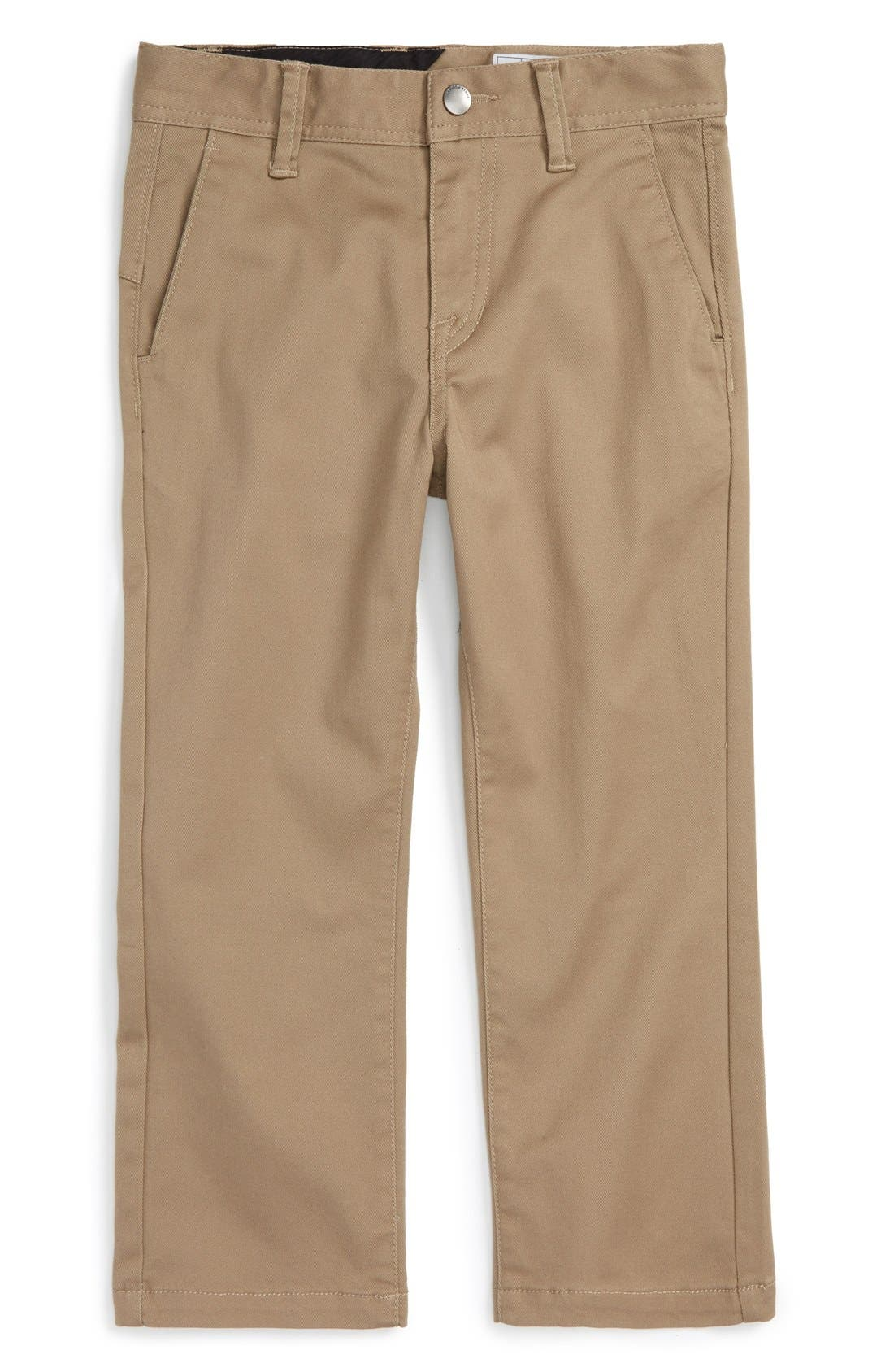 Alternate Image 1 Selected - Volcom Modern Stretch Chinos (Toddler Boys & Little Boys)