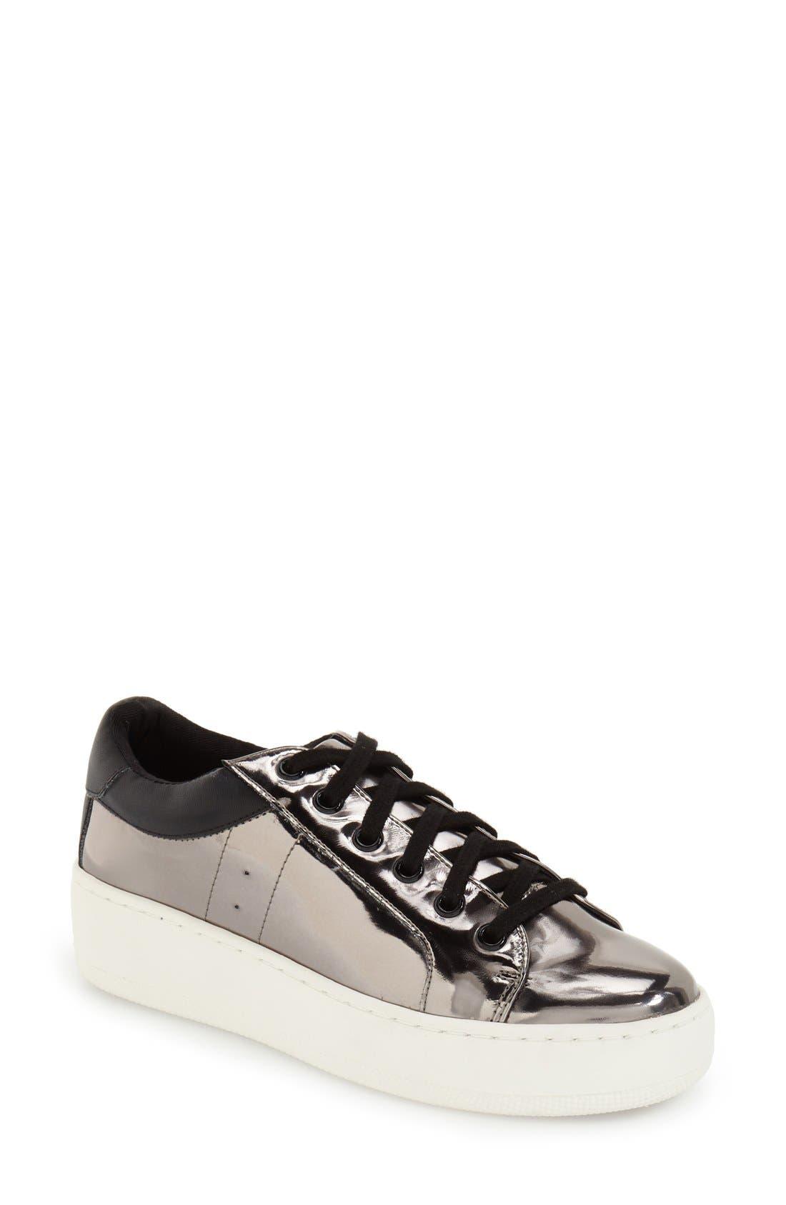 Alternate Image 1 Selected - Steve Madden Bertie Metallic Platform Sneaker (Women)