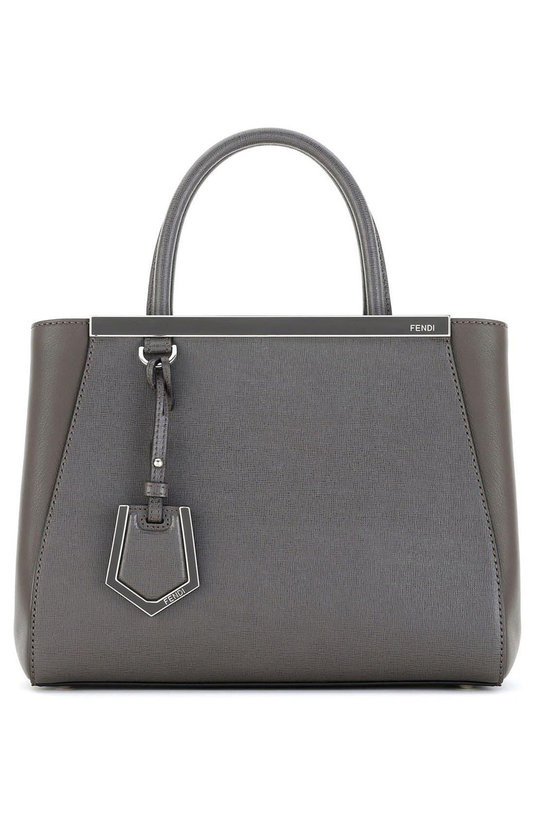 'Petite 2Jours Elite' Leather Shopper,                             Alternate thumbnail 7, color,                             Grey/ Gold Hdwr
