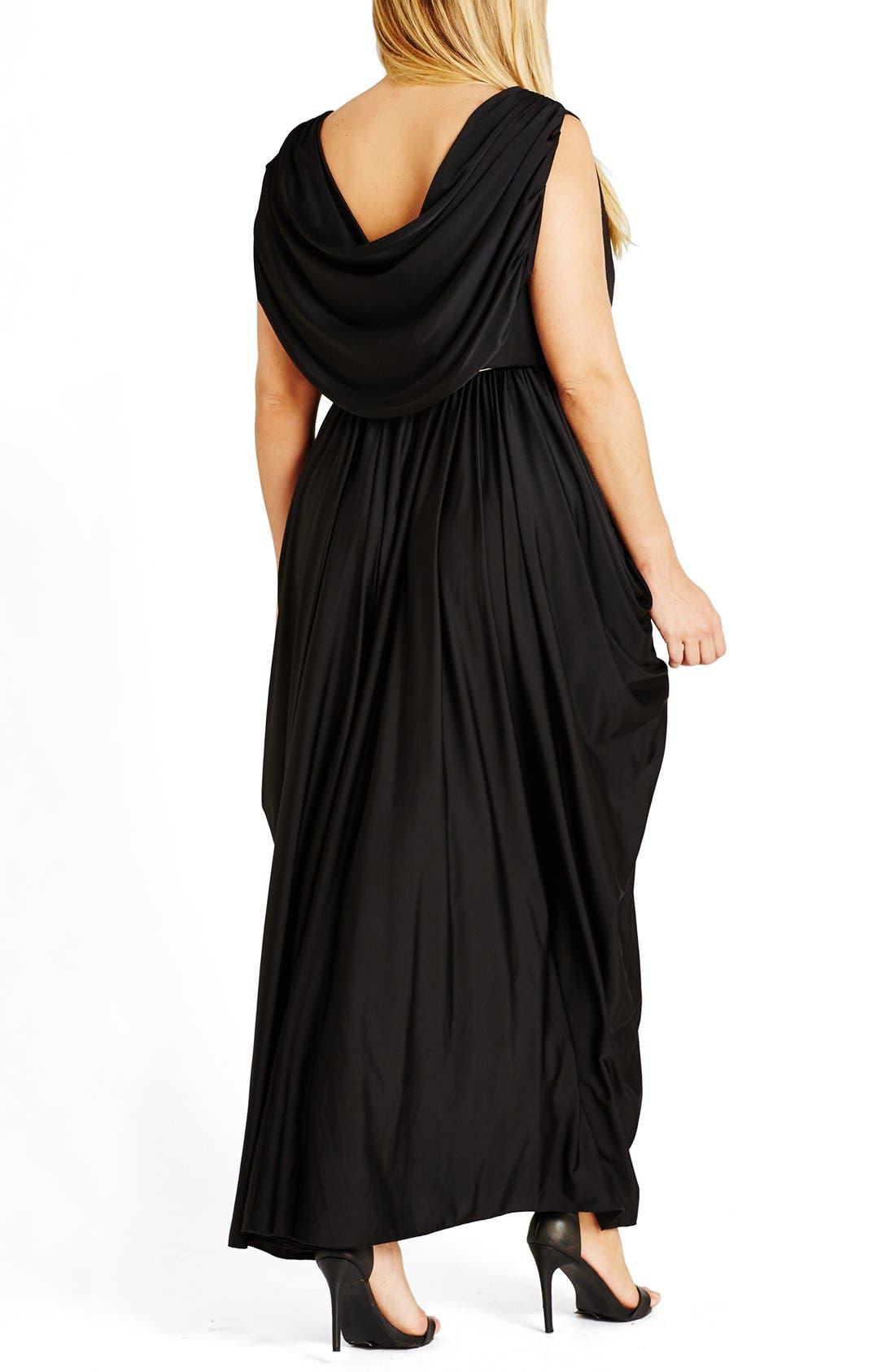 Alternate Image 2  - City Chic 'Athena Goddess' Maxi Dress (Plus Size)
