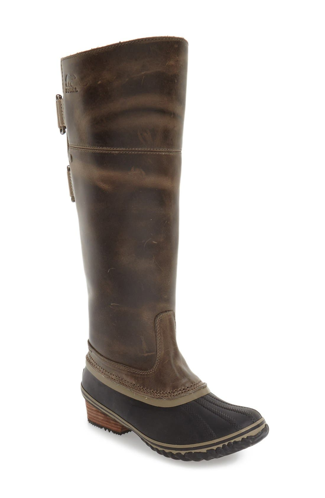 'Slimpack II' Waterproof Riding Boot,                             Main thumbnail 1, color,                             Dark Fog