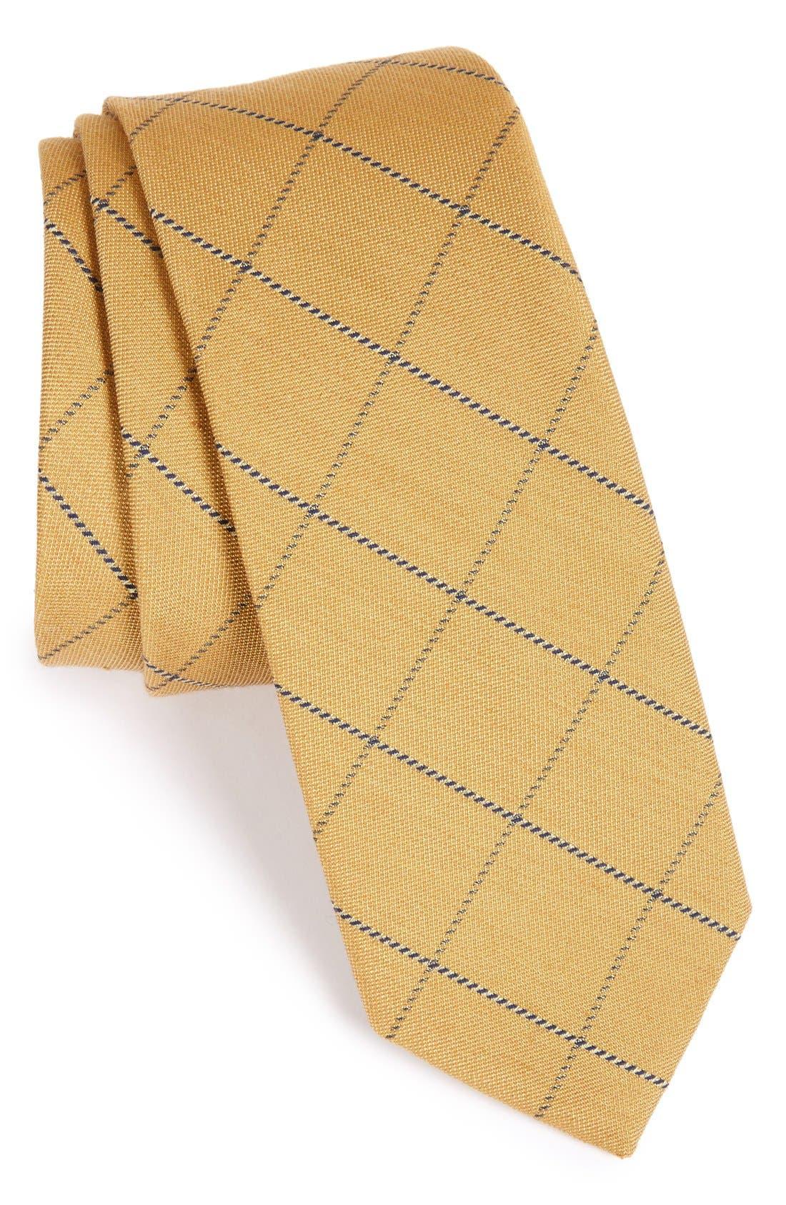Main Image - The Tie Bar Windowpane Wool & Silk Tie