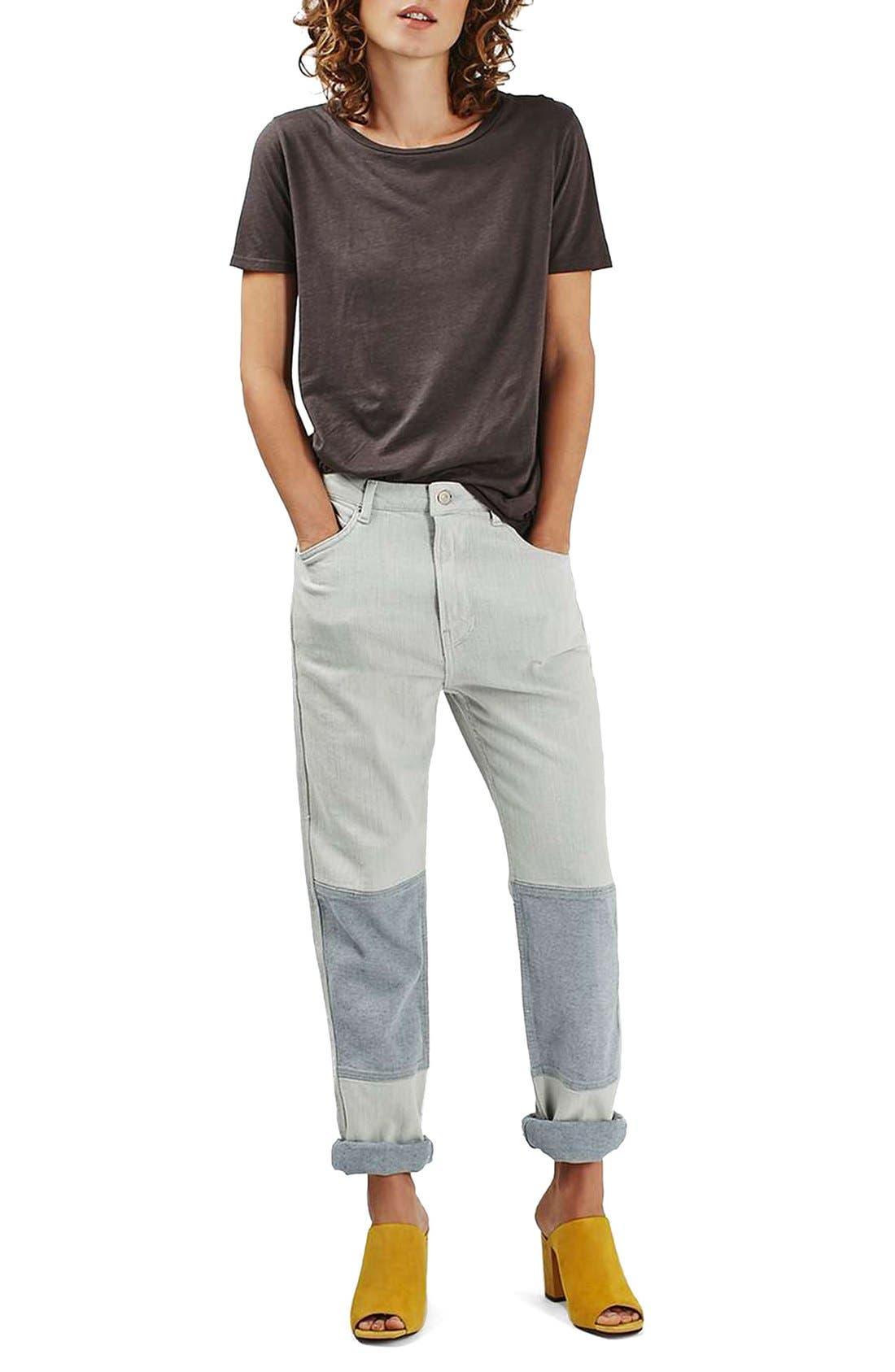 Alternate Image 2  - Topshop Moto Patch Knee Boyfriend Jeans