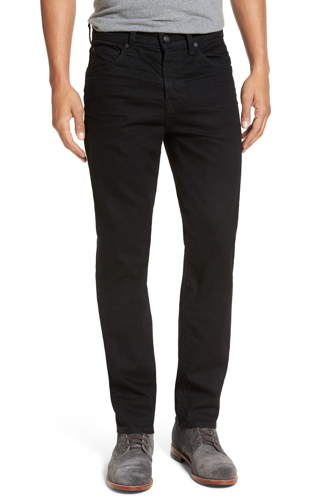 Main Image - 7 For All Mankind® Slimmy Slim Fit Jeans (Towne Black)