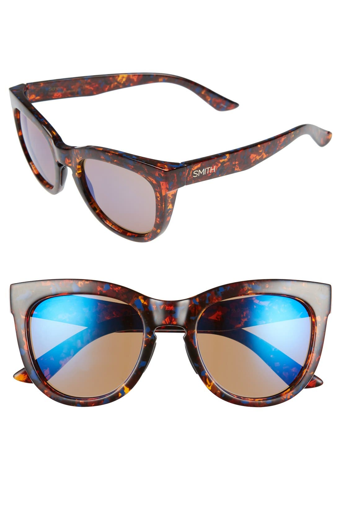 'Sidney' 52mm Sunglasses,                         Main,                         color, Flecked Blue Tortoise