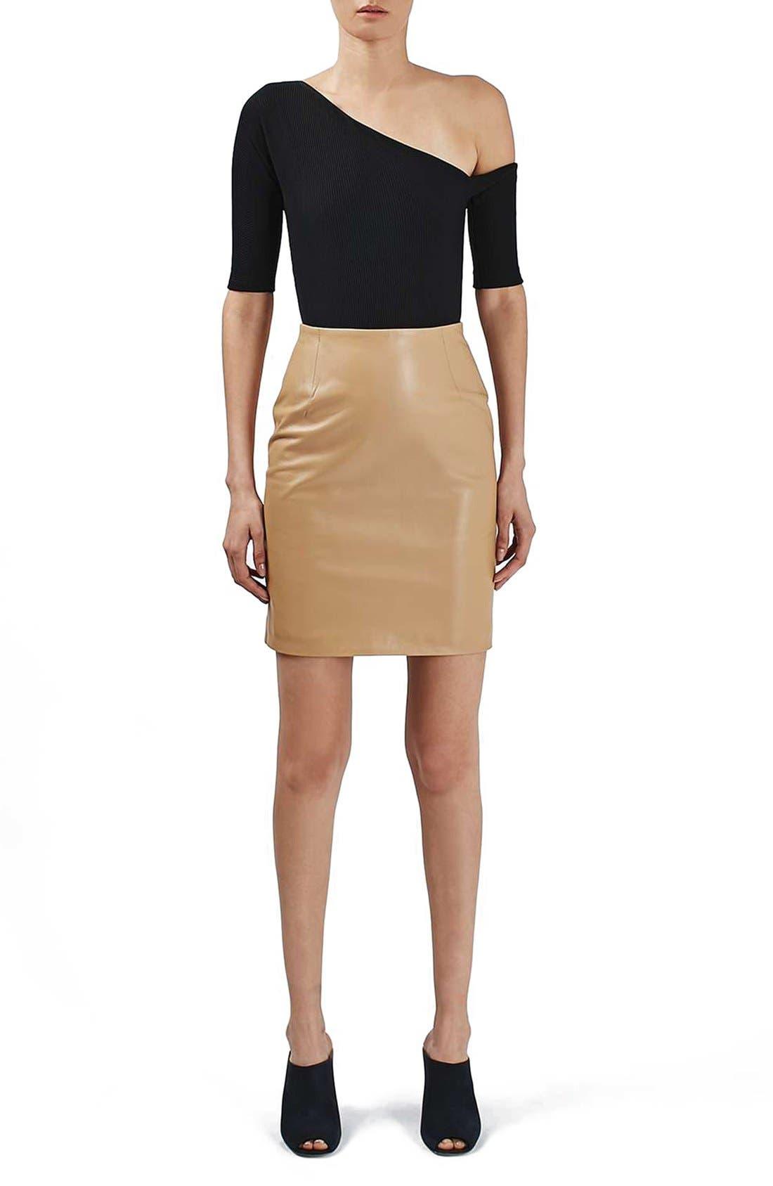 Alternate Image 2  - Topshop Boutique Asymmetrical Bodysuit