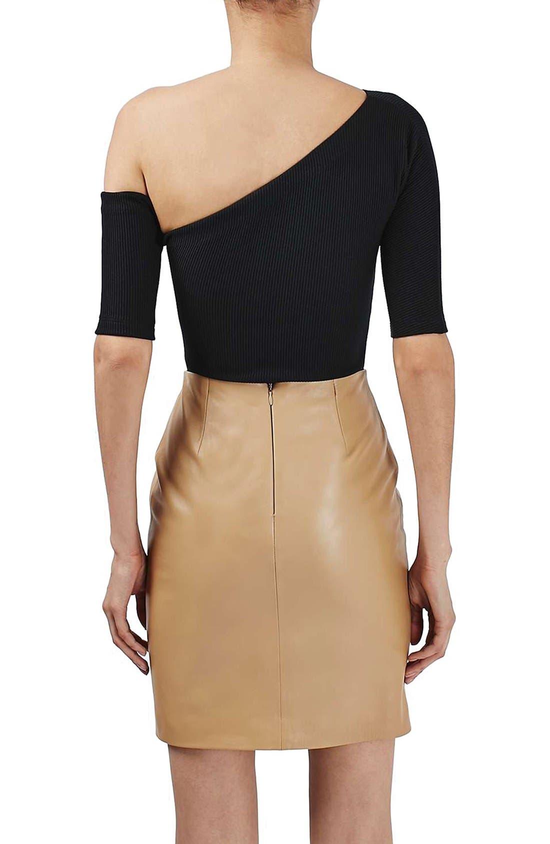 Alternate Image 3  - Topshop Boutique Asymmetrical Bodysuit